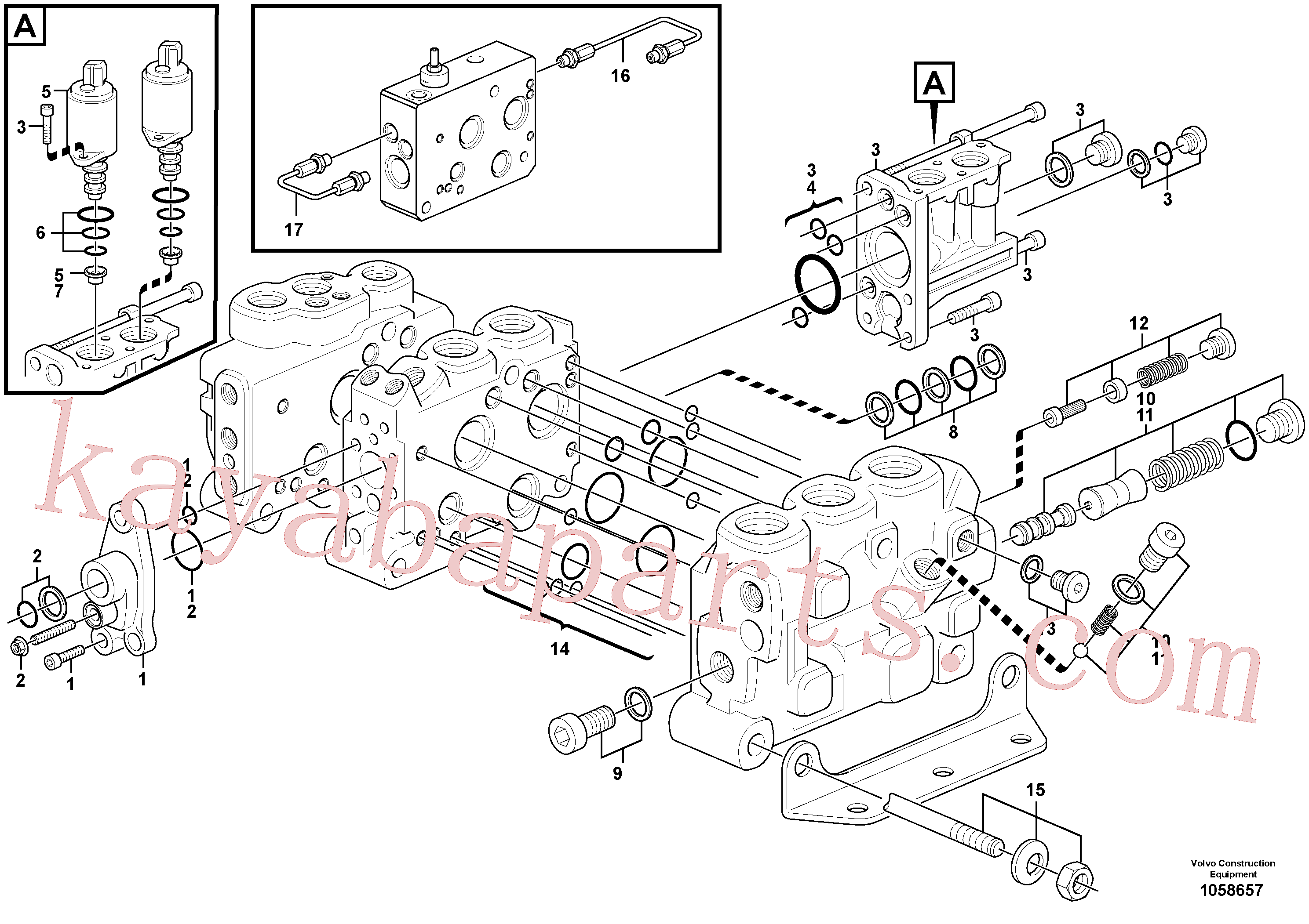 VOE15183468 for Volvo Control valve(1058657 assembly)