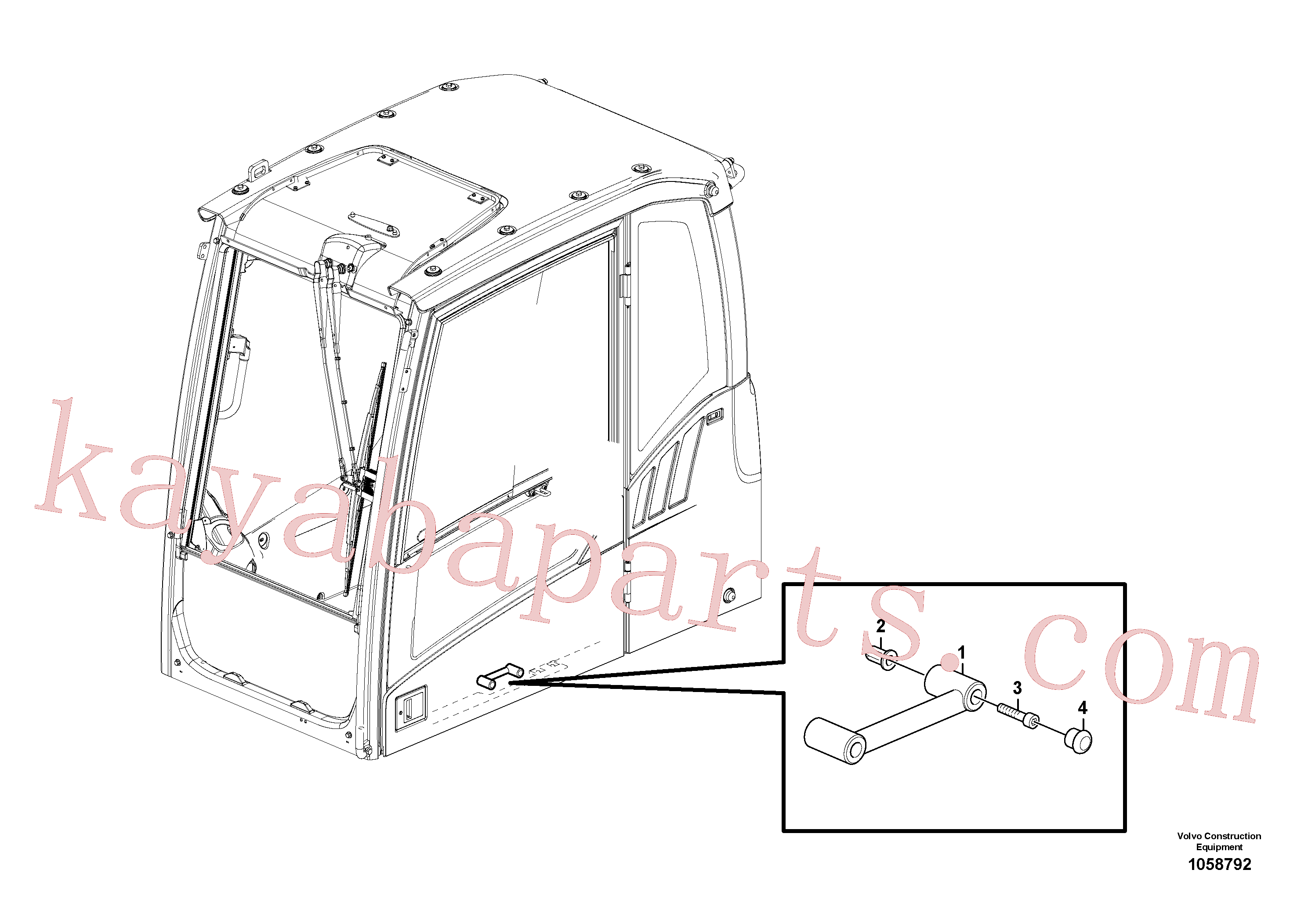 ZM4384251 for Volvo Handrail(1058792 assembly)