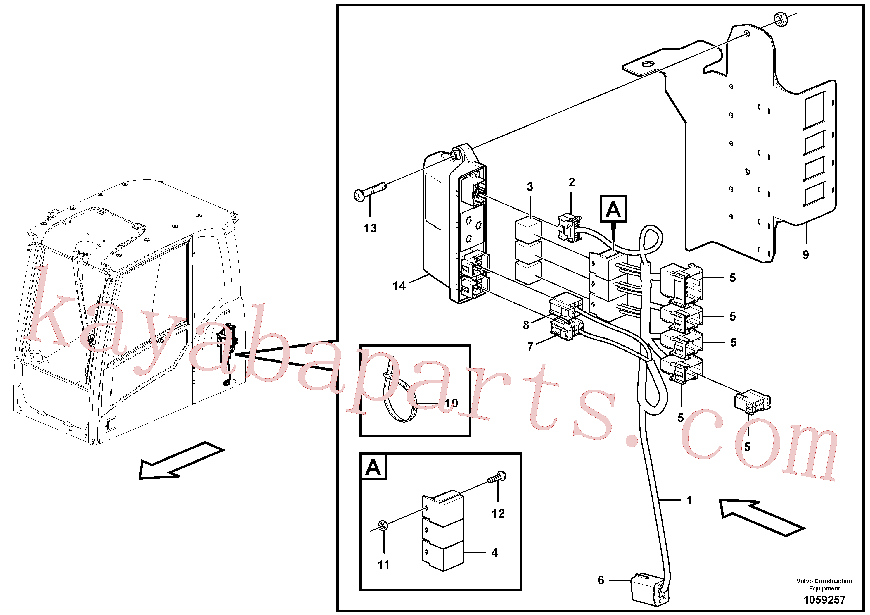 VOE14572485 for Volvo Cable harness, rototilt(1059257 assembly)