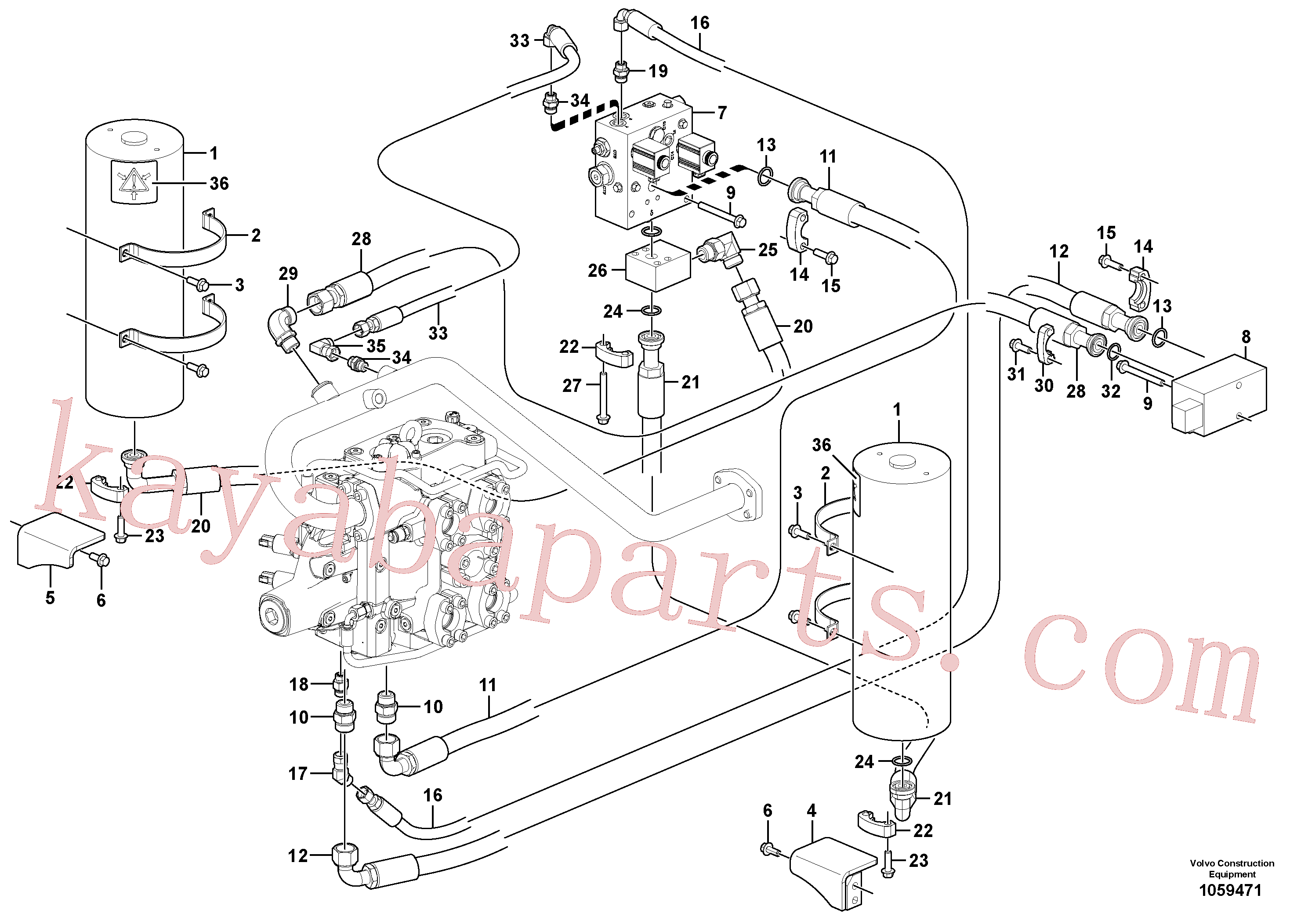 VOE14389880 for Volvo Boom suspension system(1059471 assembly)