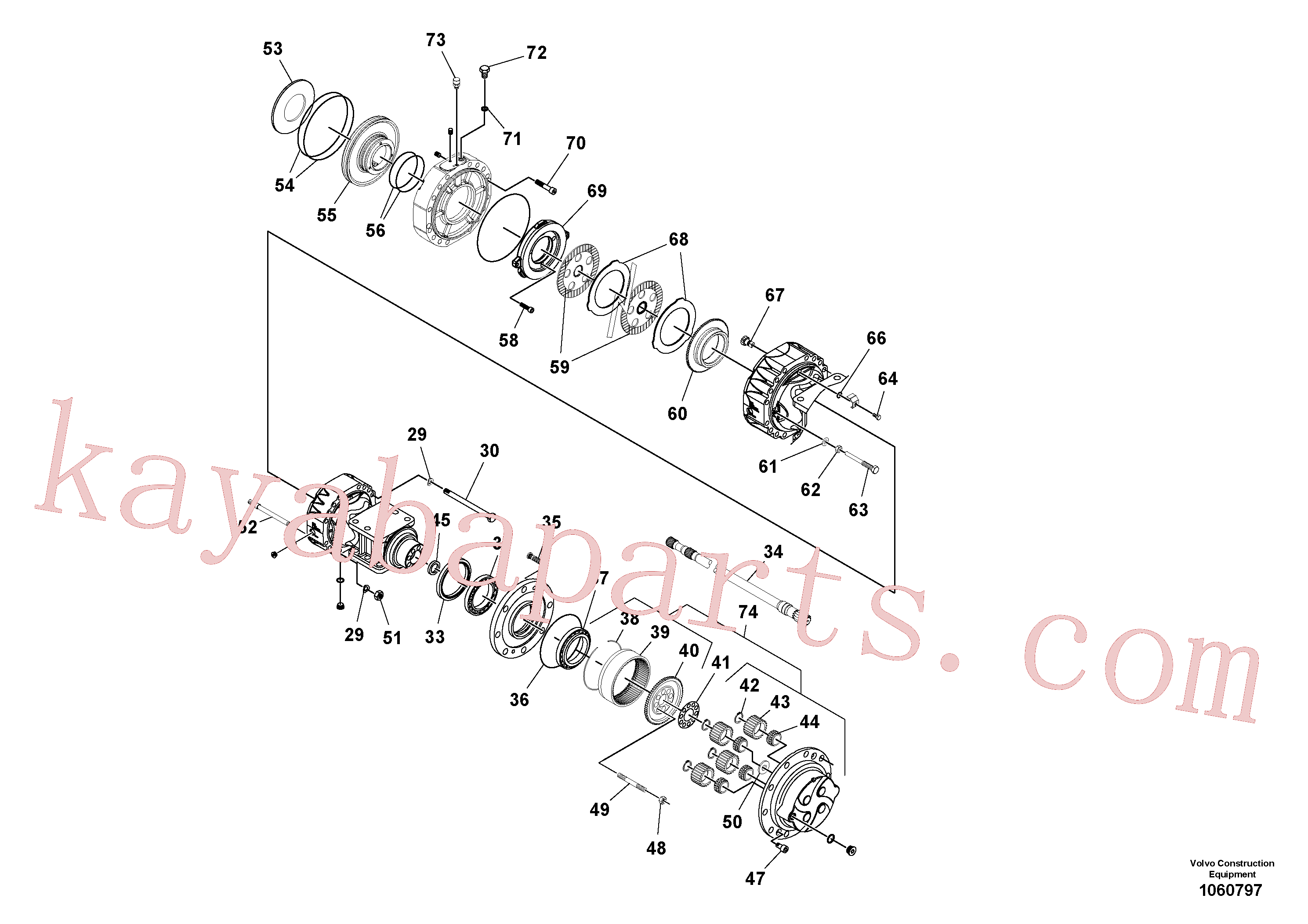 RM59146662 for Volvo Axle(1060797 assembly)