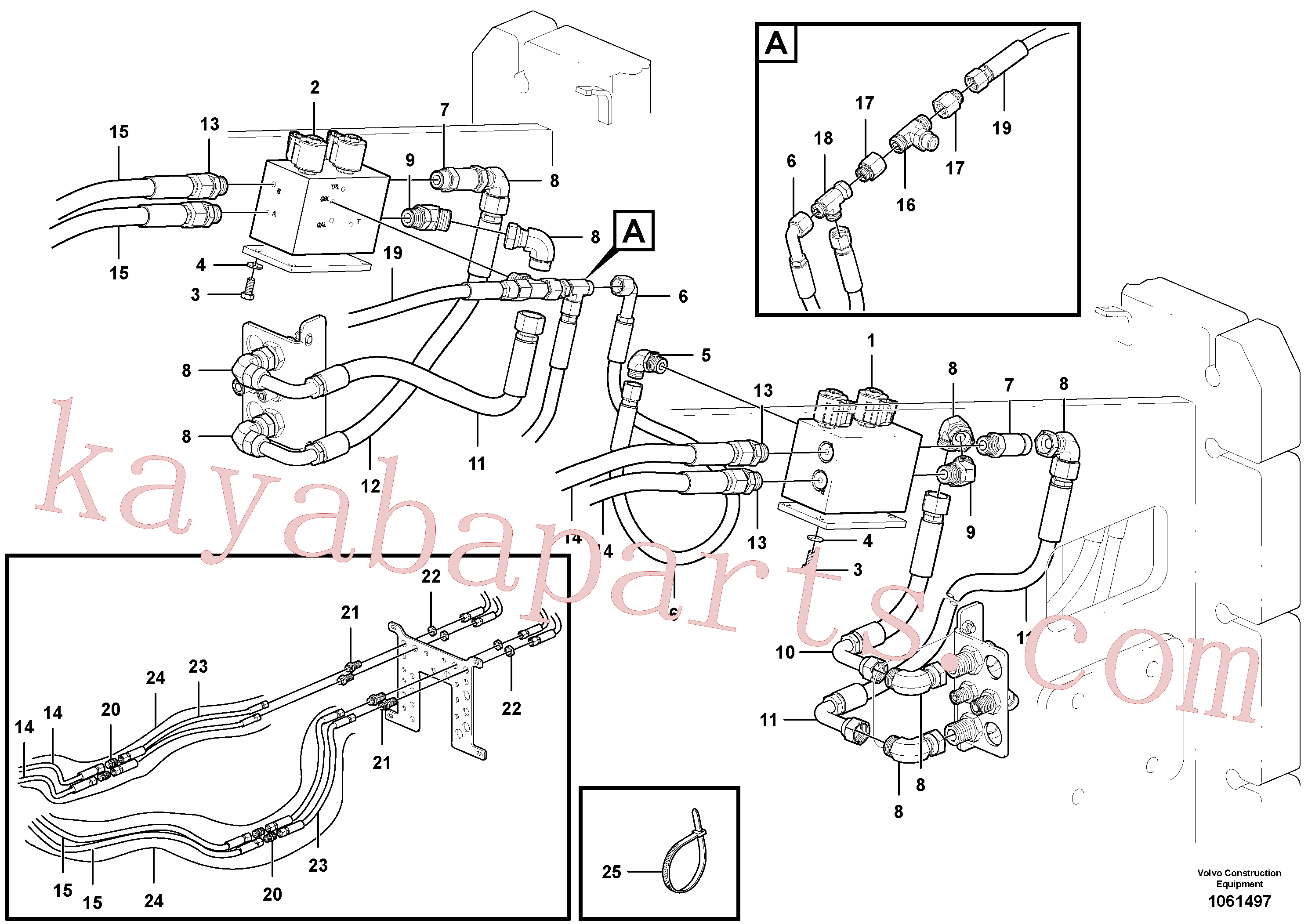 PJ4705008 for Volvo Bypass Valve Hydraulic Circuit - AWD(1061497 assembly)