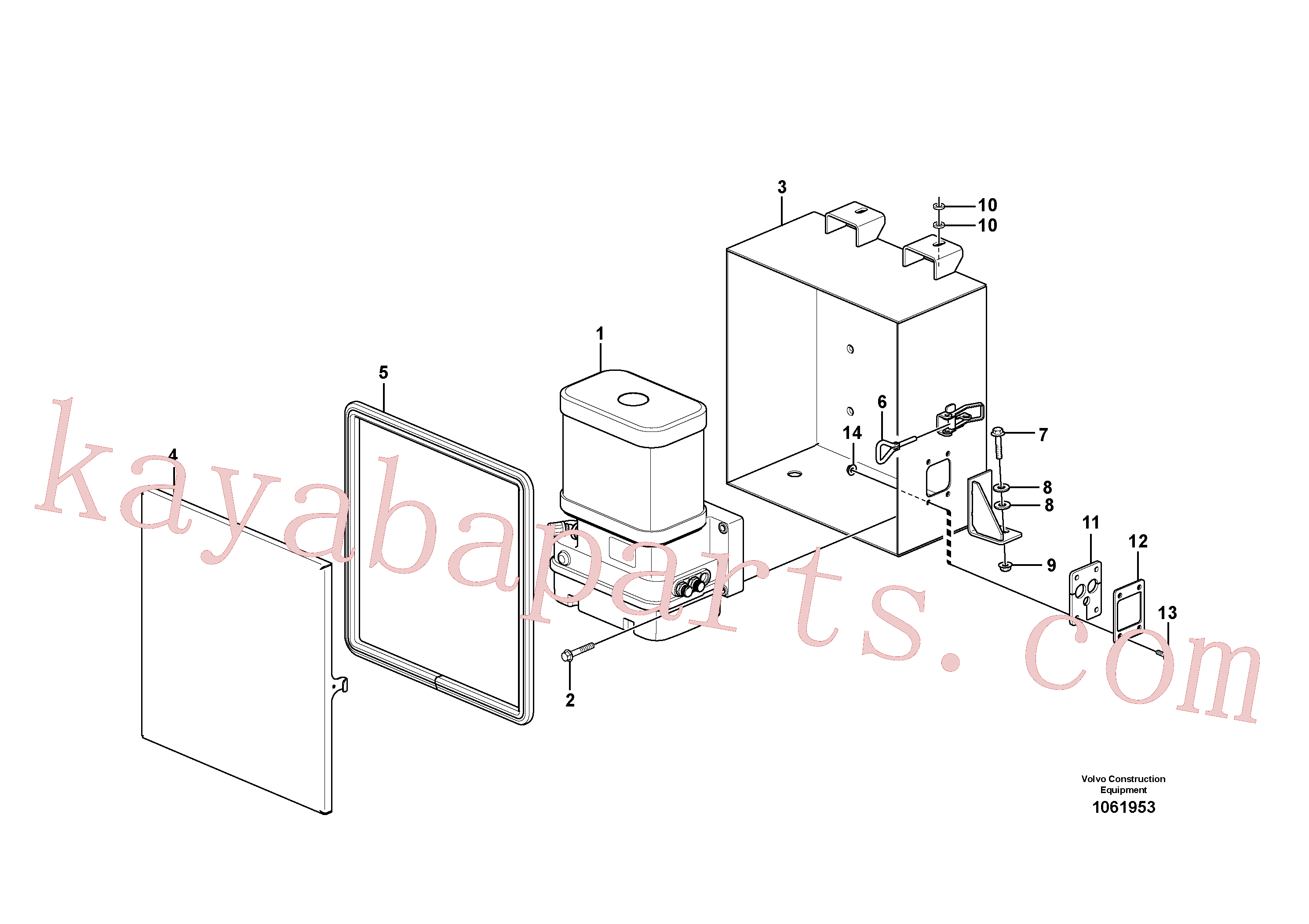 VOE15097283 for Volvo Pump with fitting parts(1061953 assembly)
