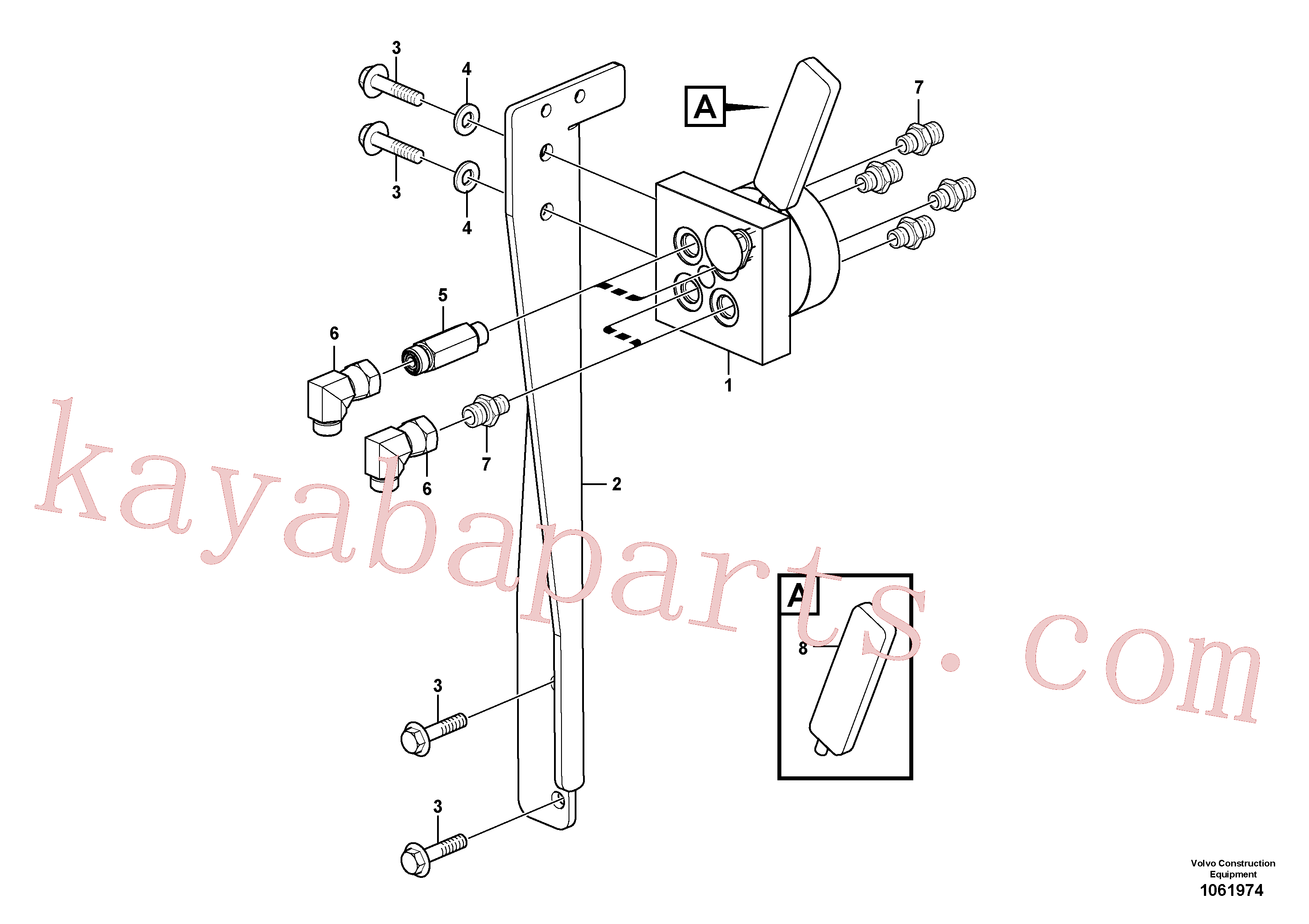 VOE991689 for Volvo Control valve(1061974 assembly)