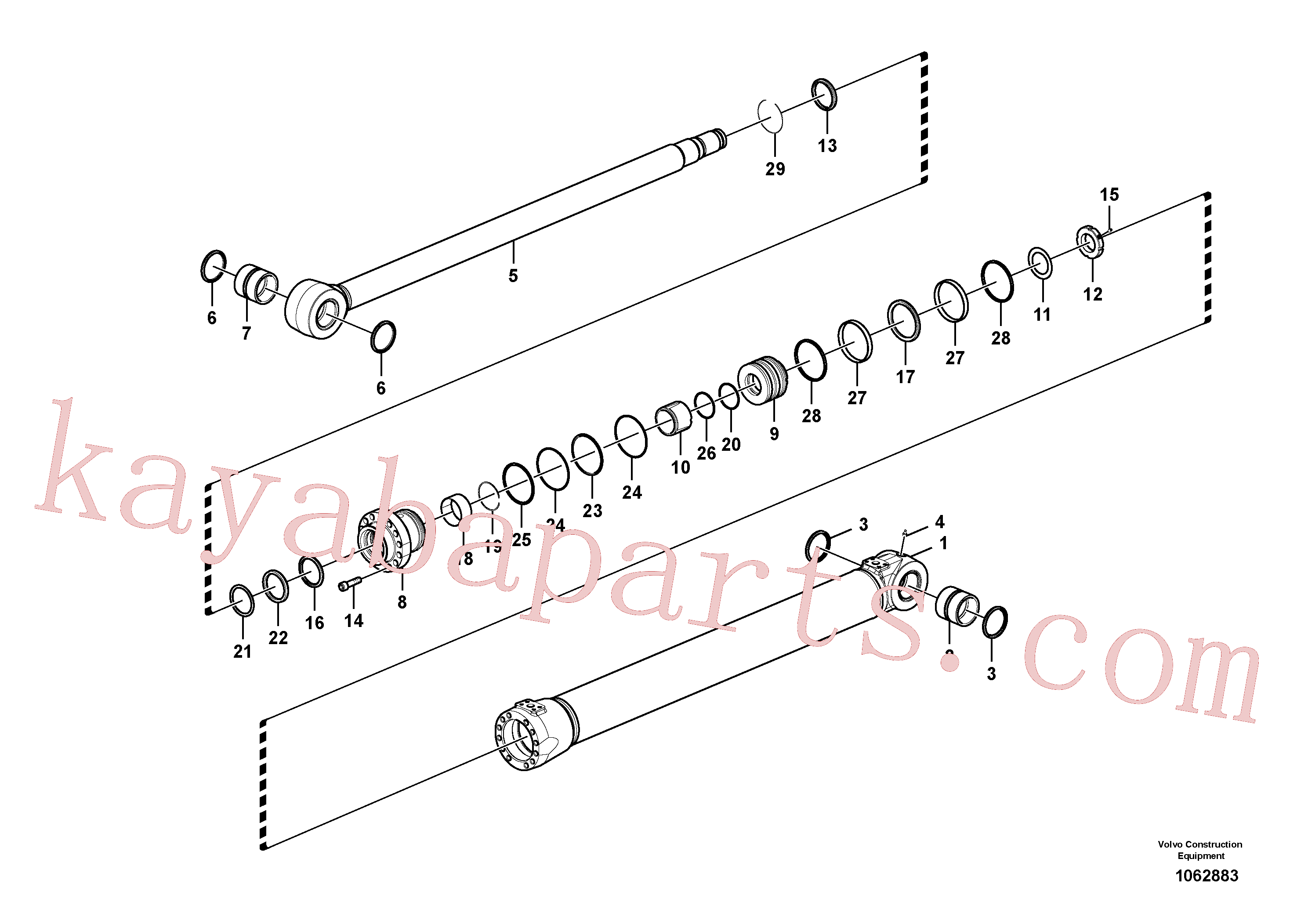 VOE14555223 for Volvo Boom cylinder(1062883 assembly)