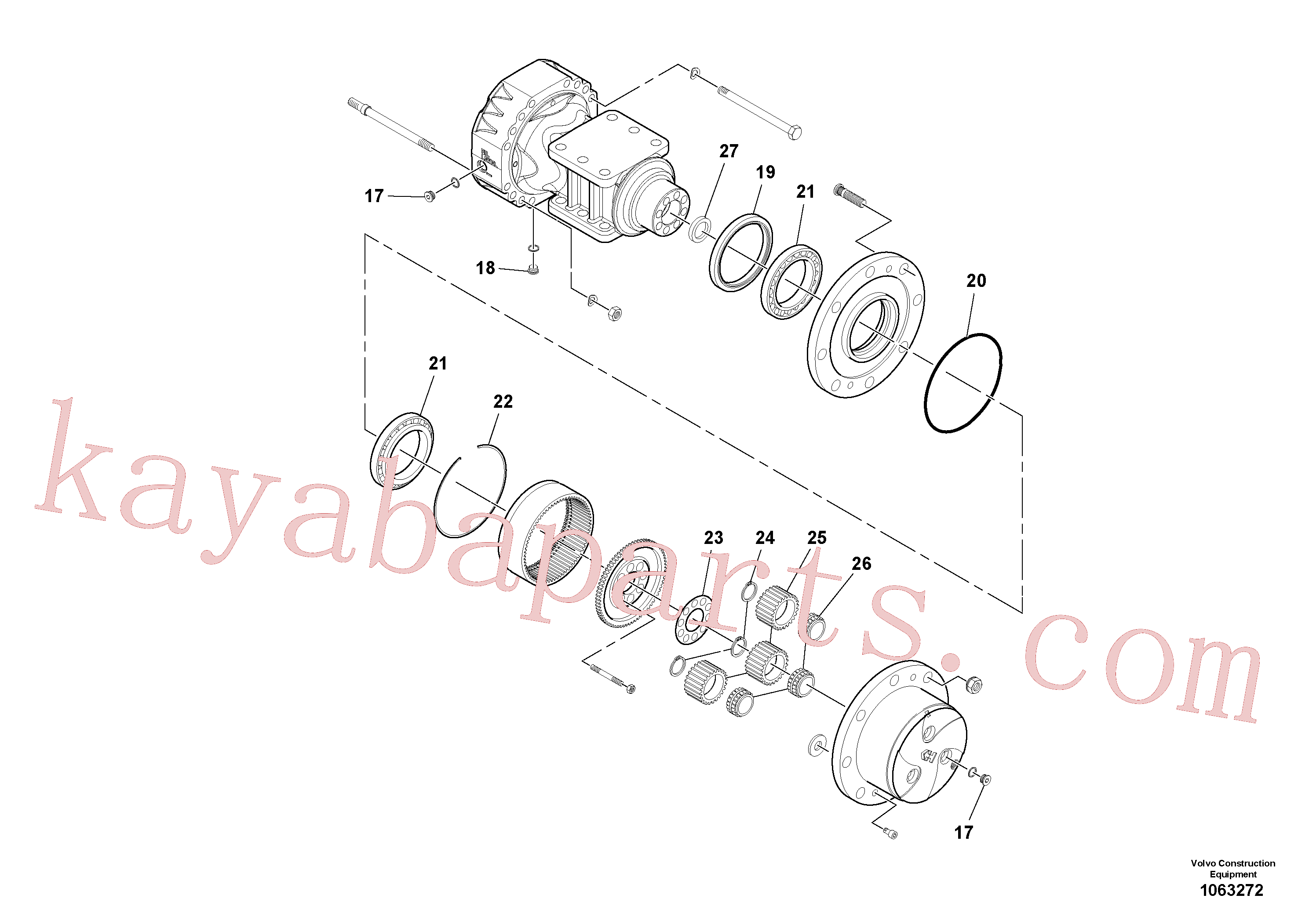 RM59146662 for Volvo Axle(1063272 assembly)