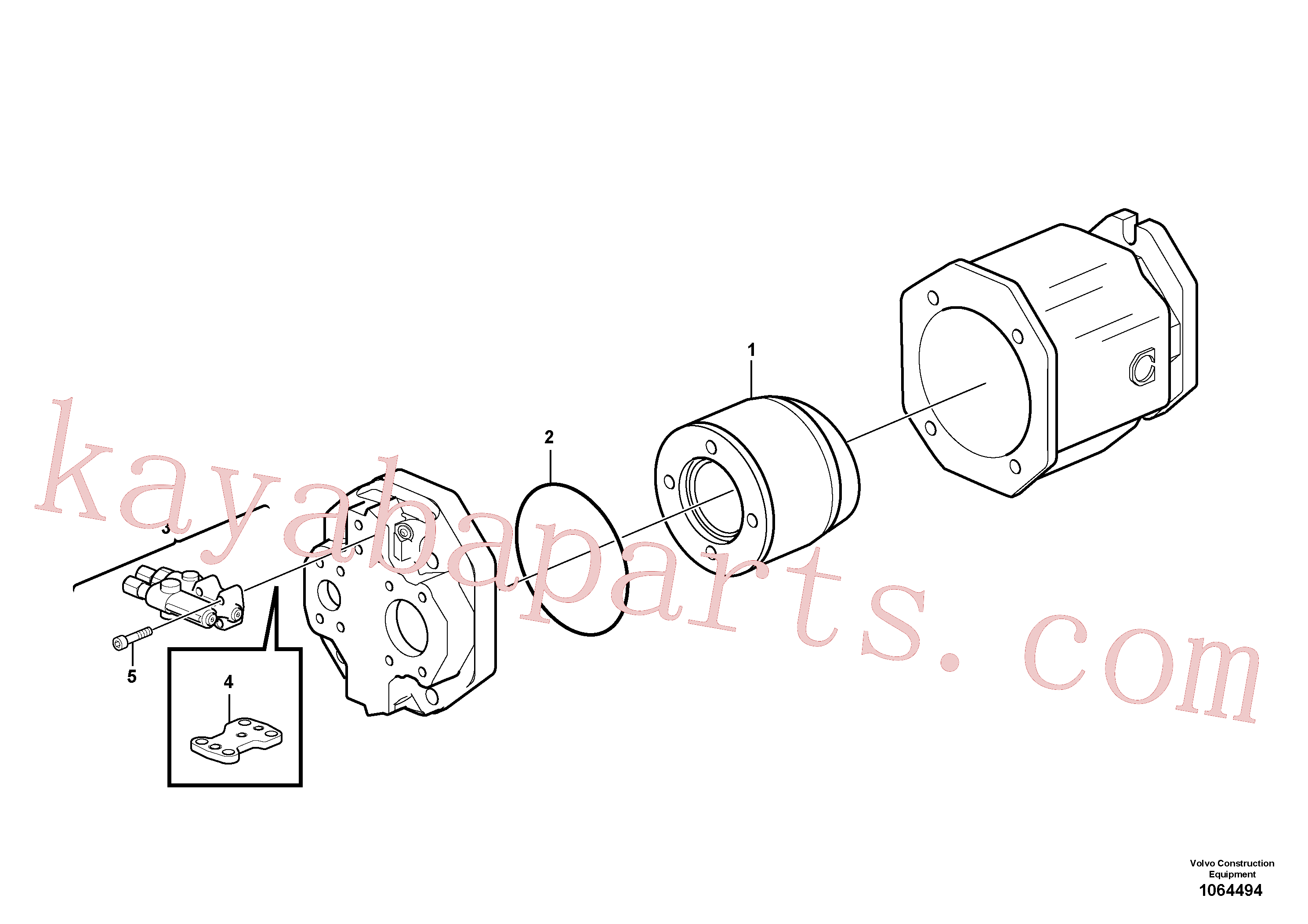 RM43997451 for Volvo Hydraulic pump(1064494 assembly)