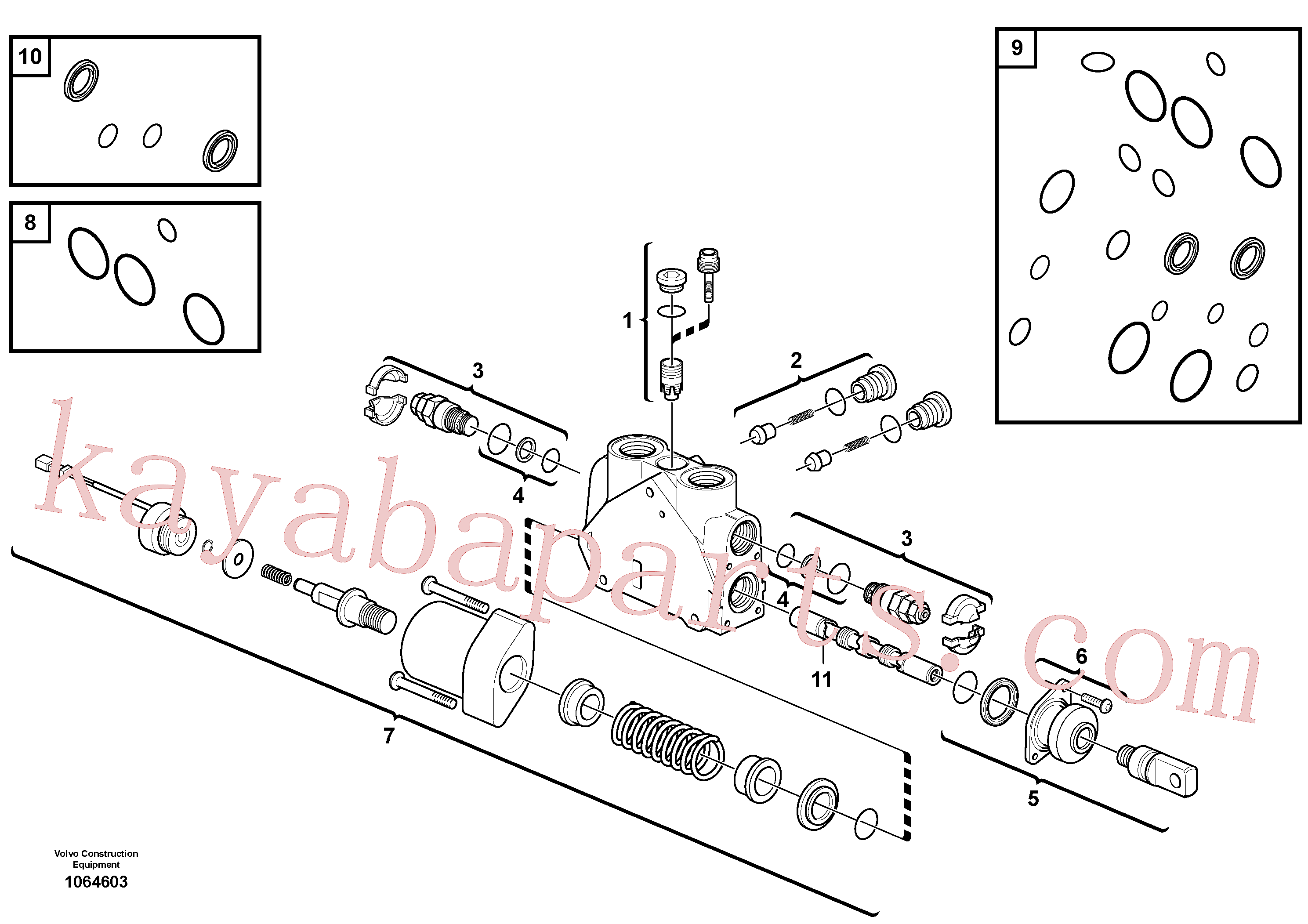VOE15171847 for Volvo Valve section(1064603 assembly)
