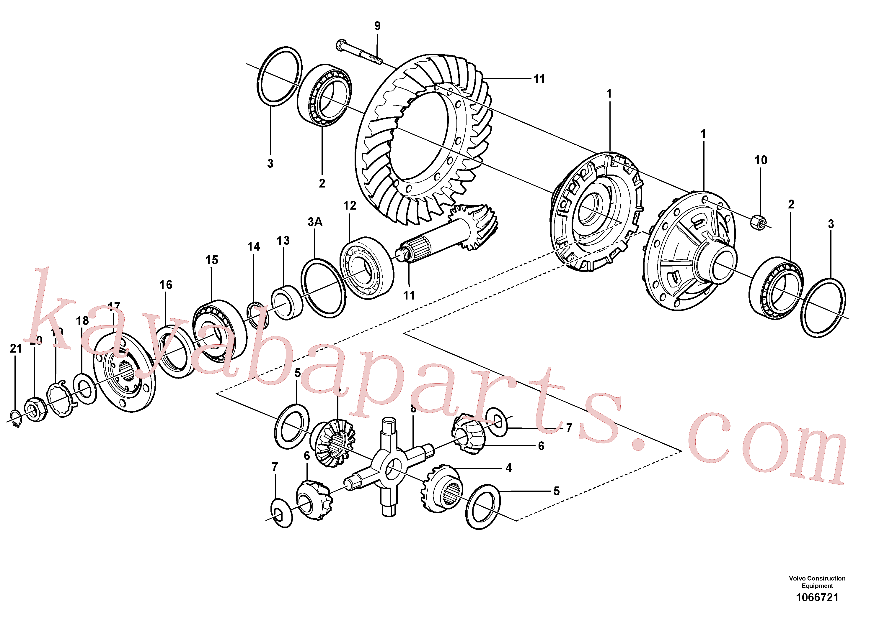 VOE11168058 for Volvo Final drive, rear(1066721 assembly)