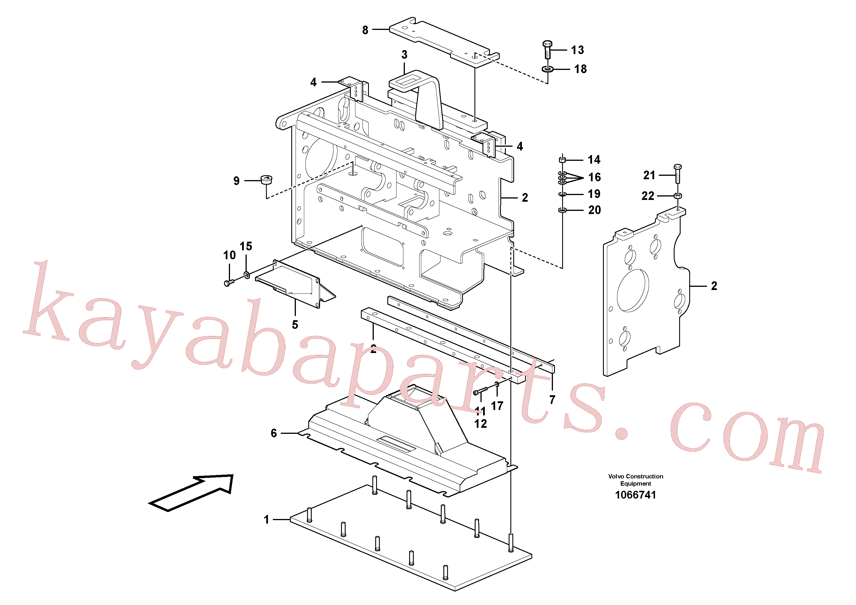 RM80854011 for Volvo Heating screed extension(1066741 assembly)