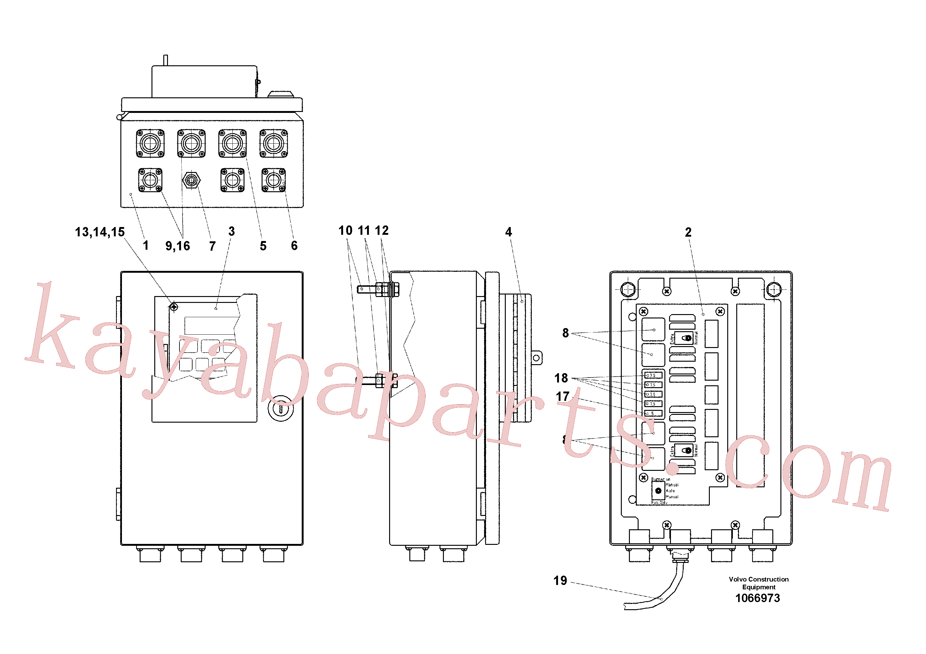 VOE13980555 for Volvo Thermo Control(1066973 assembly)