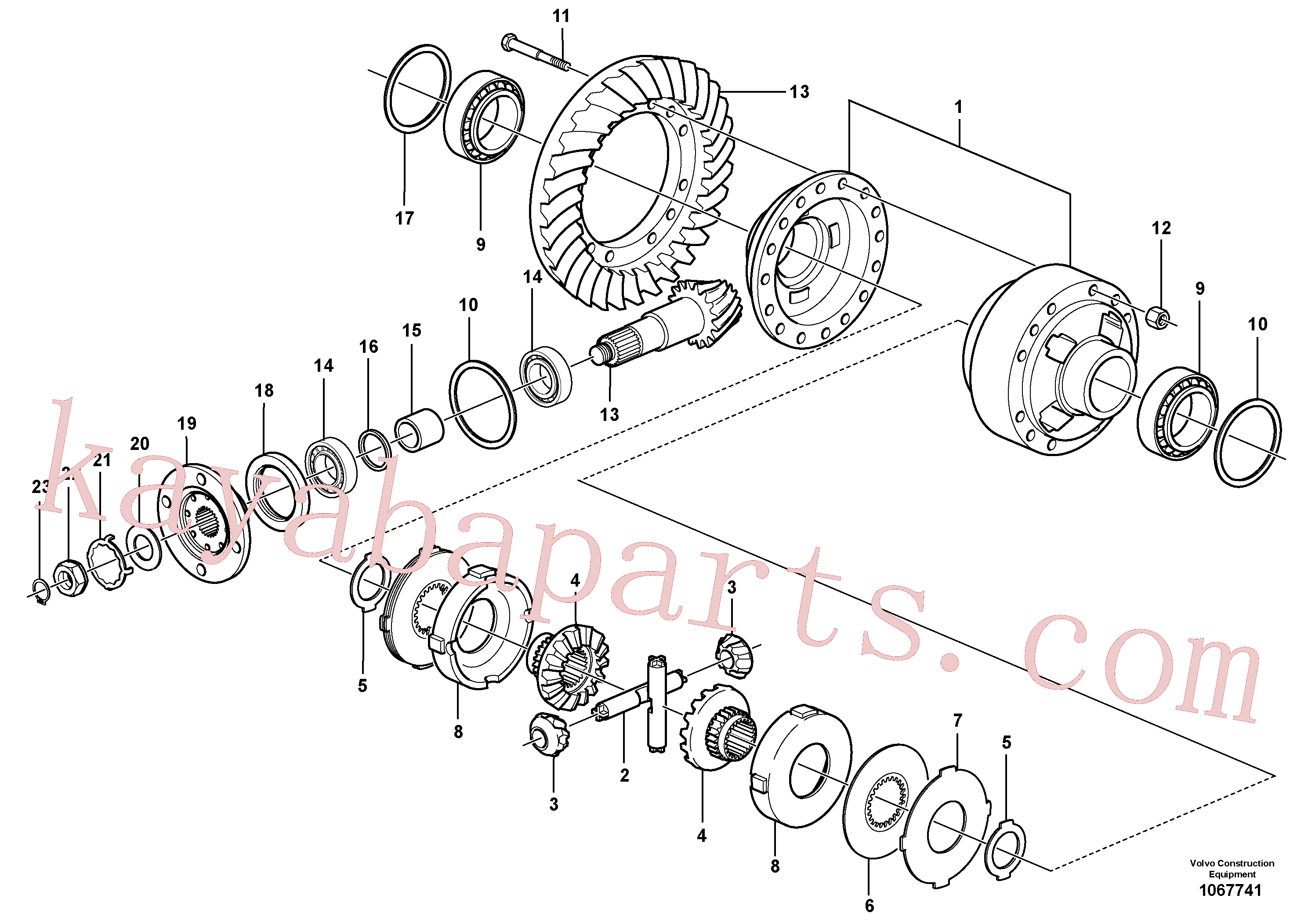 VOE11168058 for Volvo Final drive, rear(1067741 assembly)
