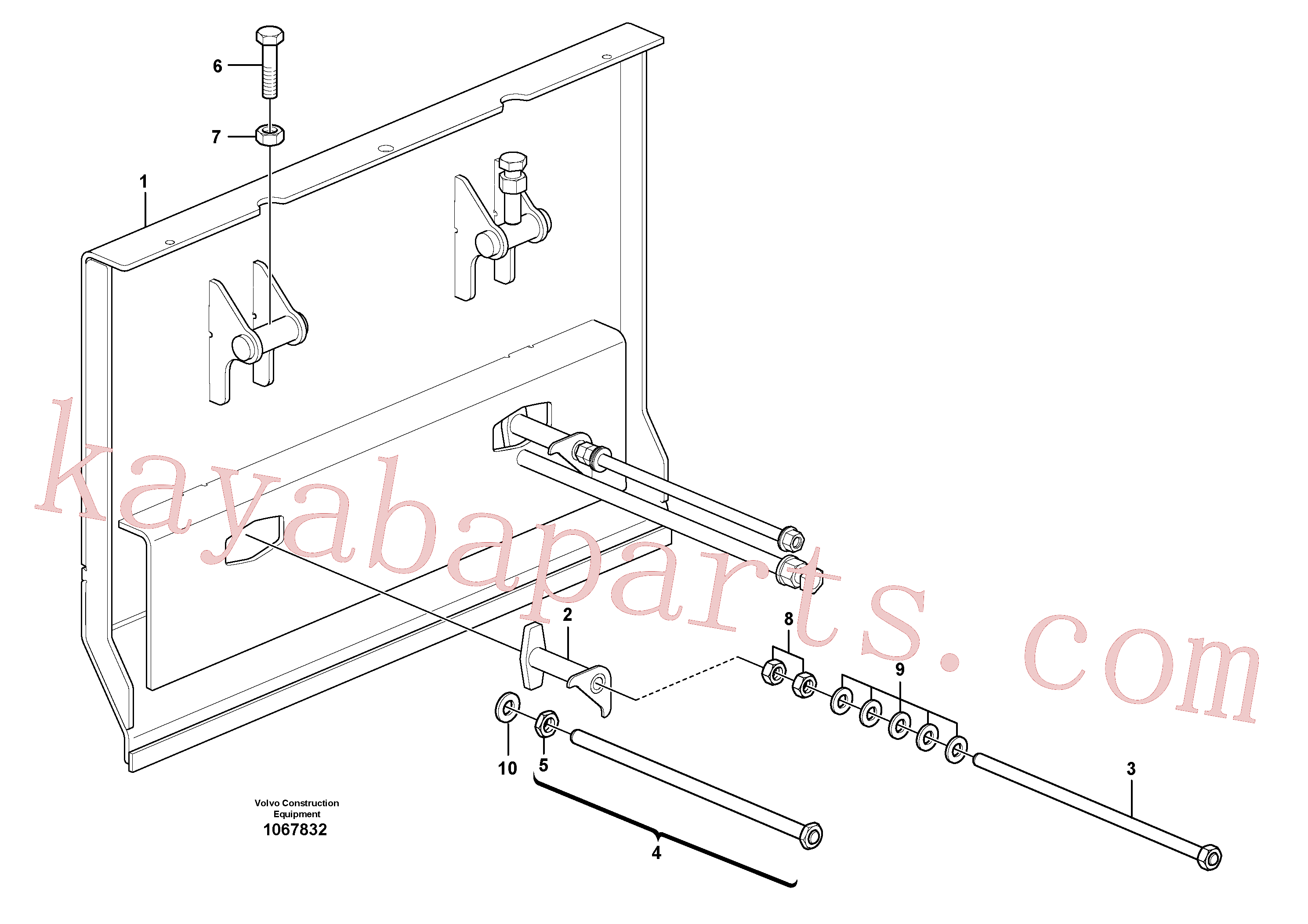 VOE13971072 for Volvo Deflector for extension(1067832 assembly)