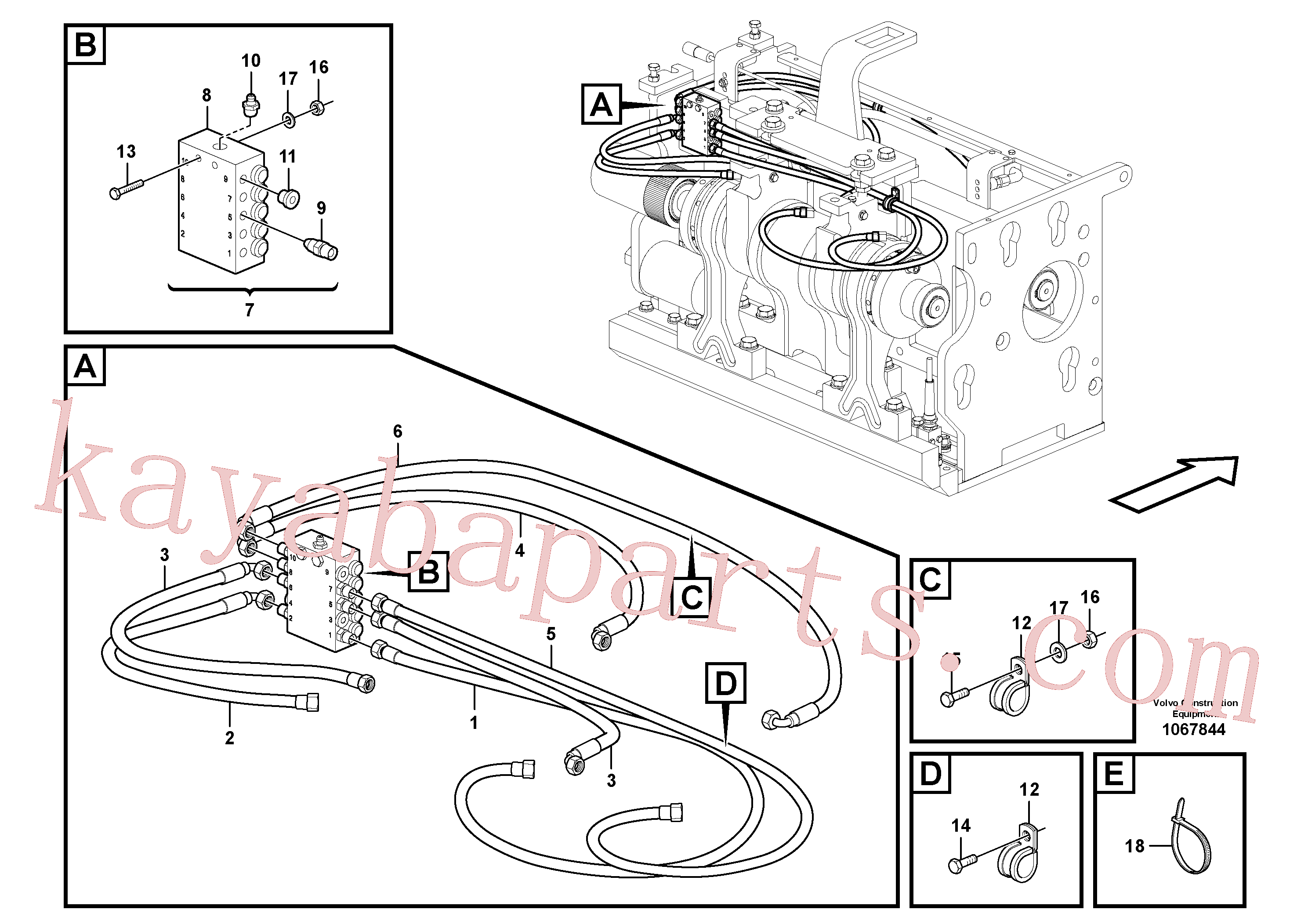 RM54701305 for Volvo Lubrication for extension(1067844 assembly)