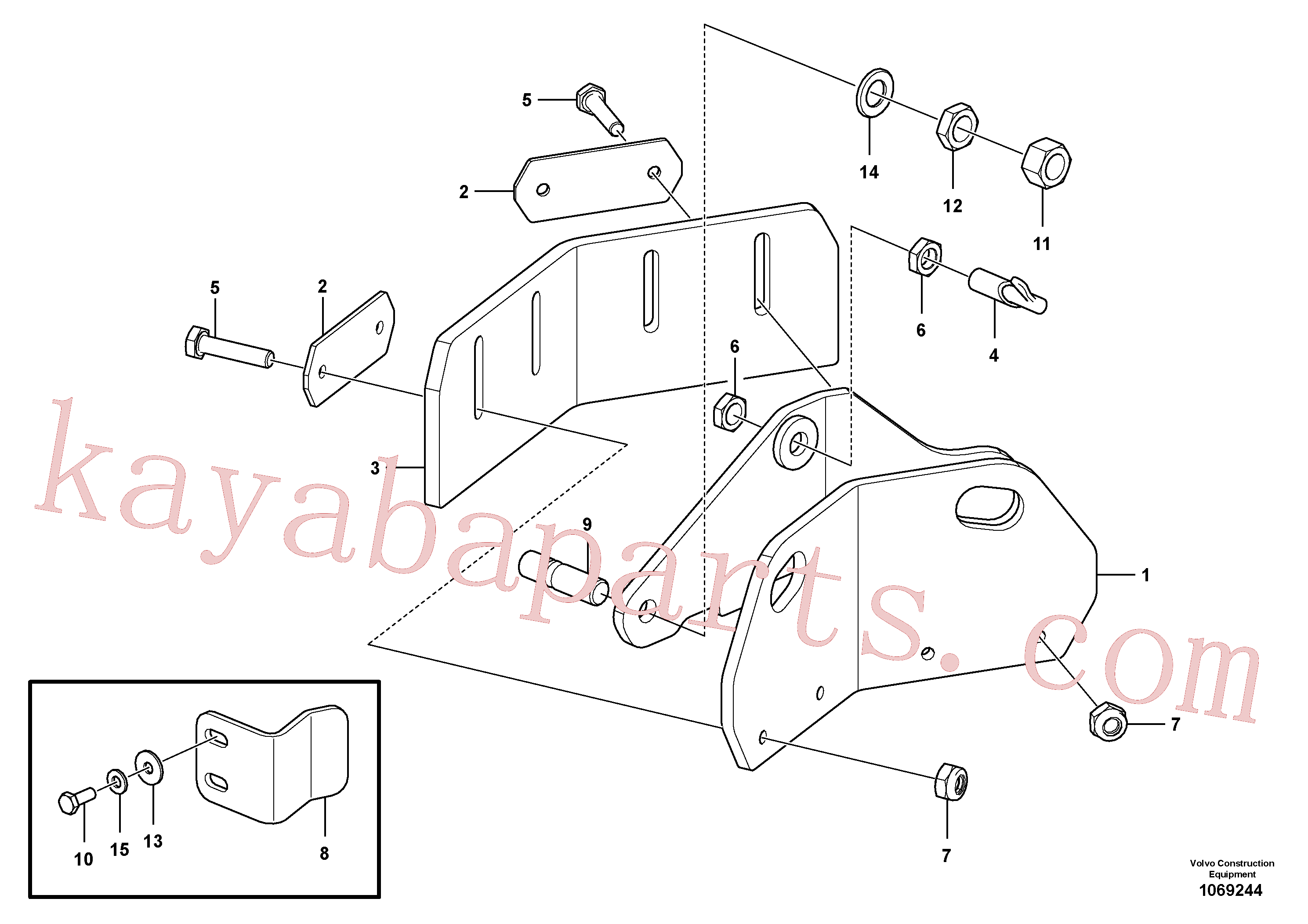RM58833260 for Volvo Scraper(1069244 assembly)
