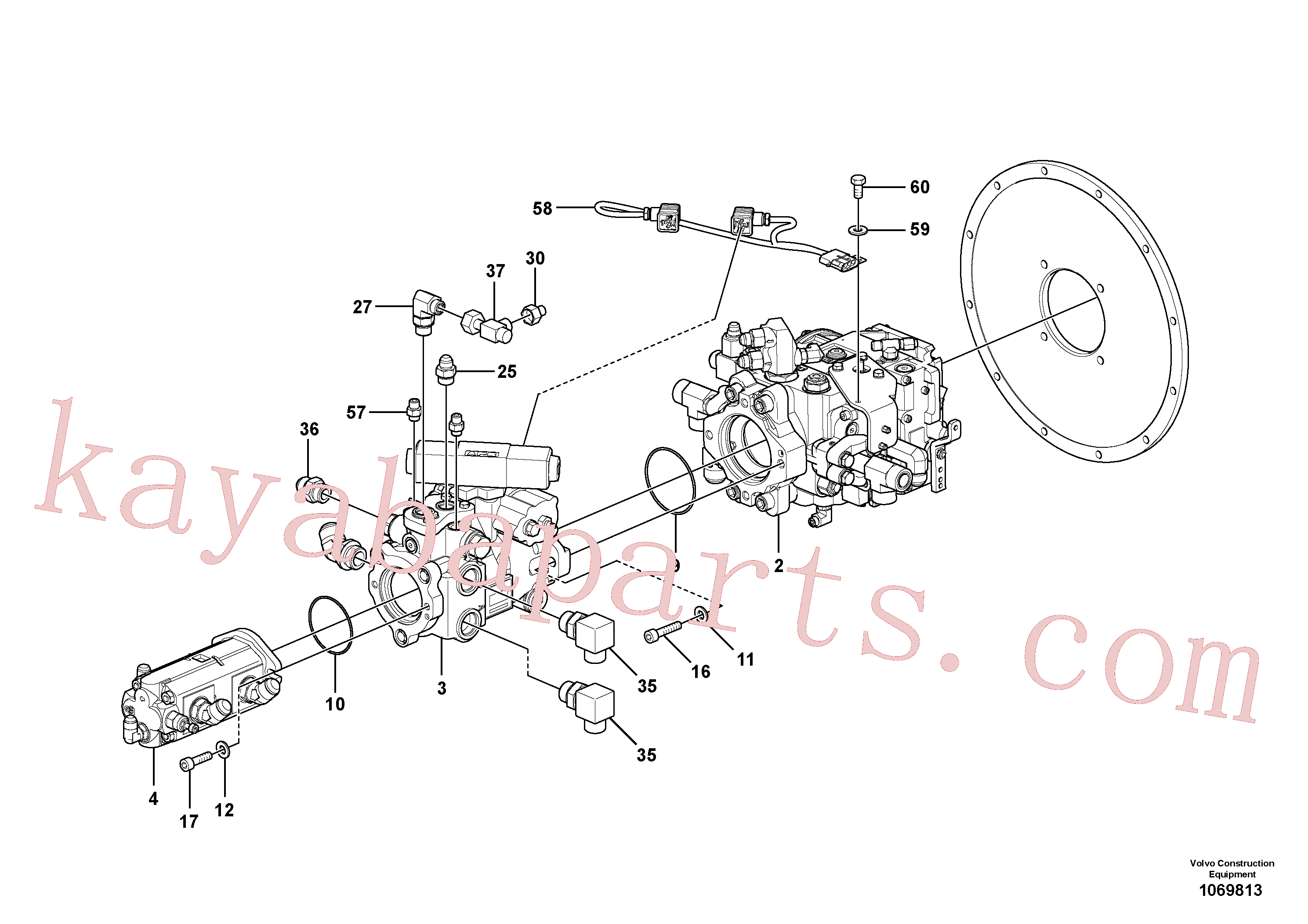 RM96725023 for Volvo Pump Stack Assembly(1069813 assembly)