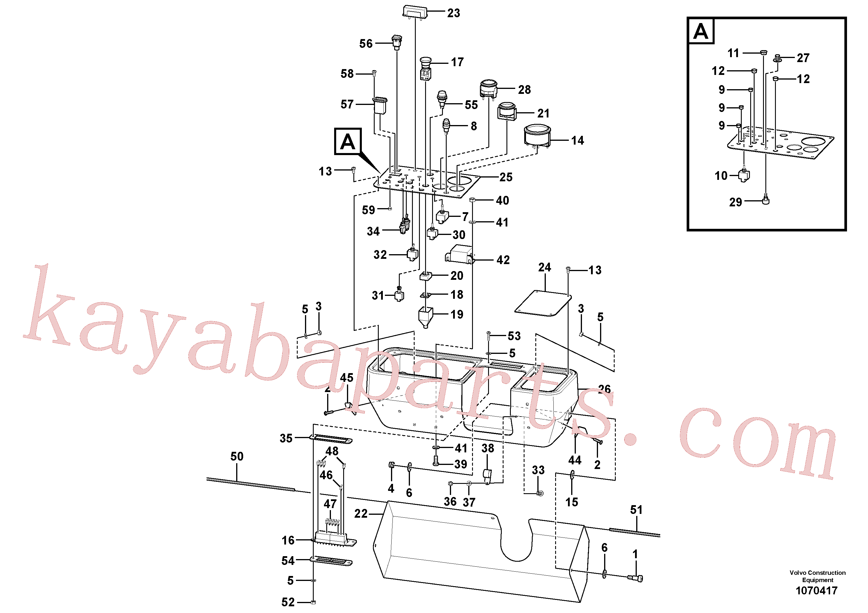 RM59108100 for Volvo Gauge/switch Panel Assembly(1070417 assembly)