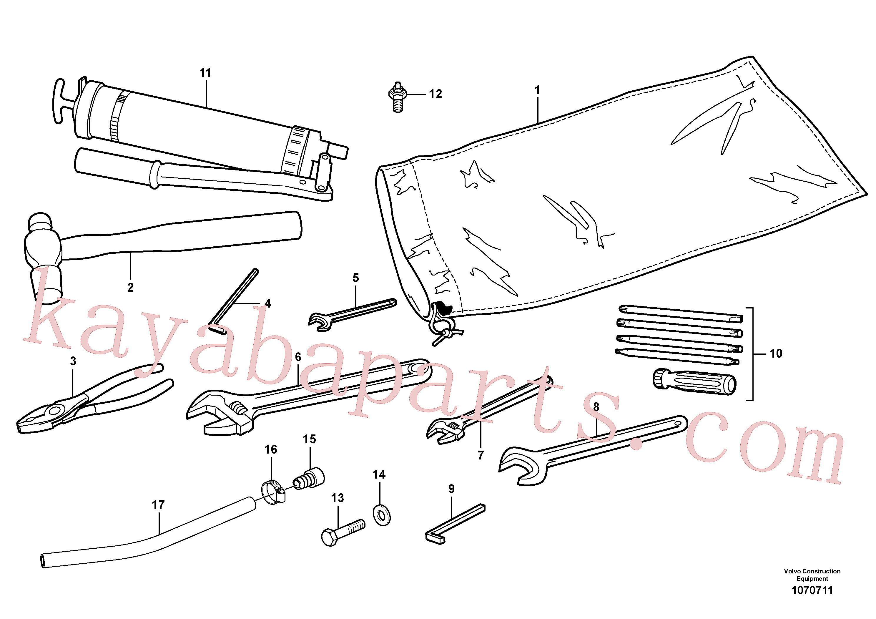 VOE190708 for Volvo Tools(1070711 assembly)