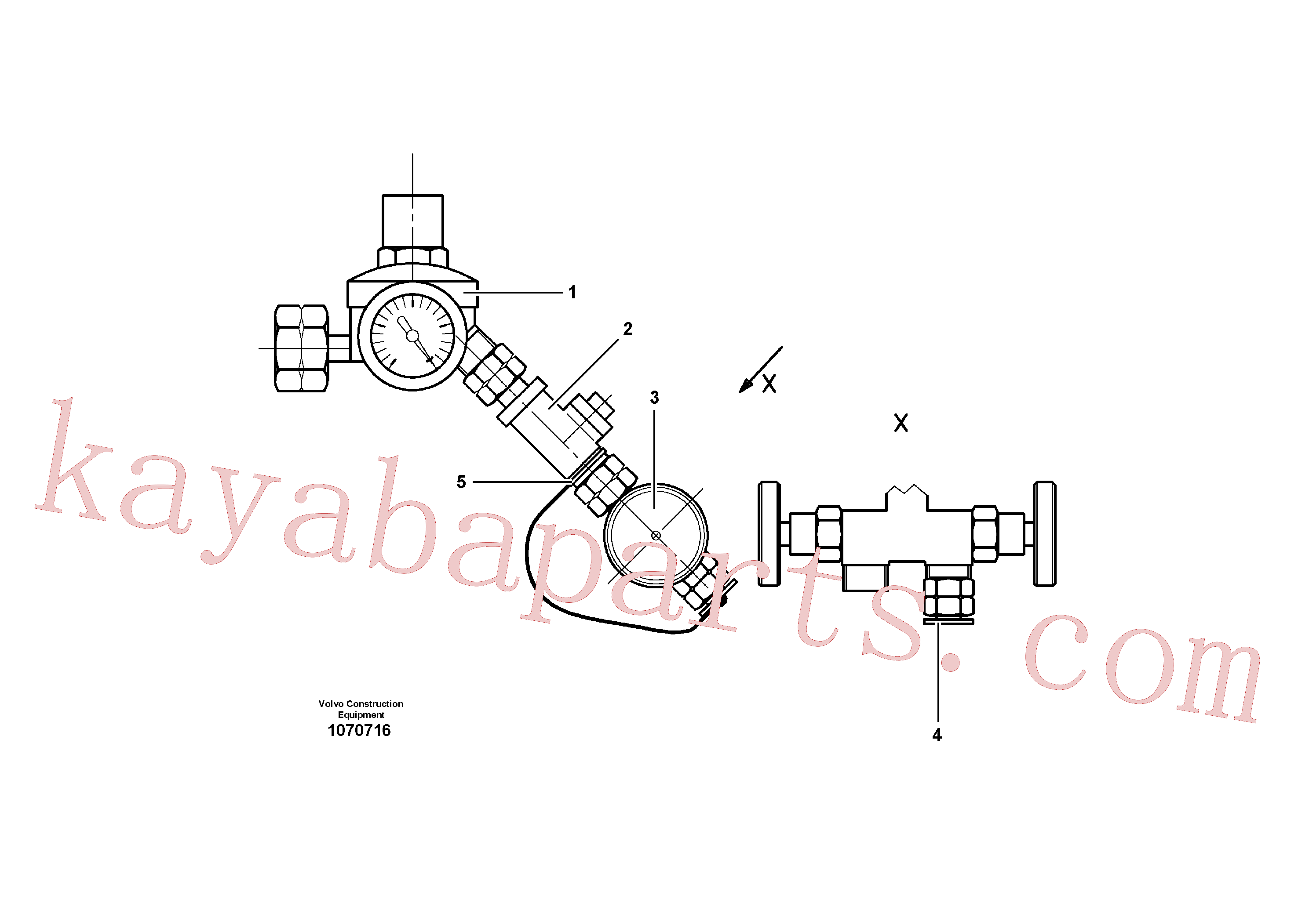 VOE12776613 for Volvo Gasbottle connection(1070716 assembly)