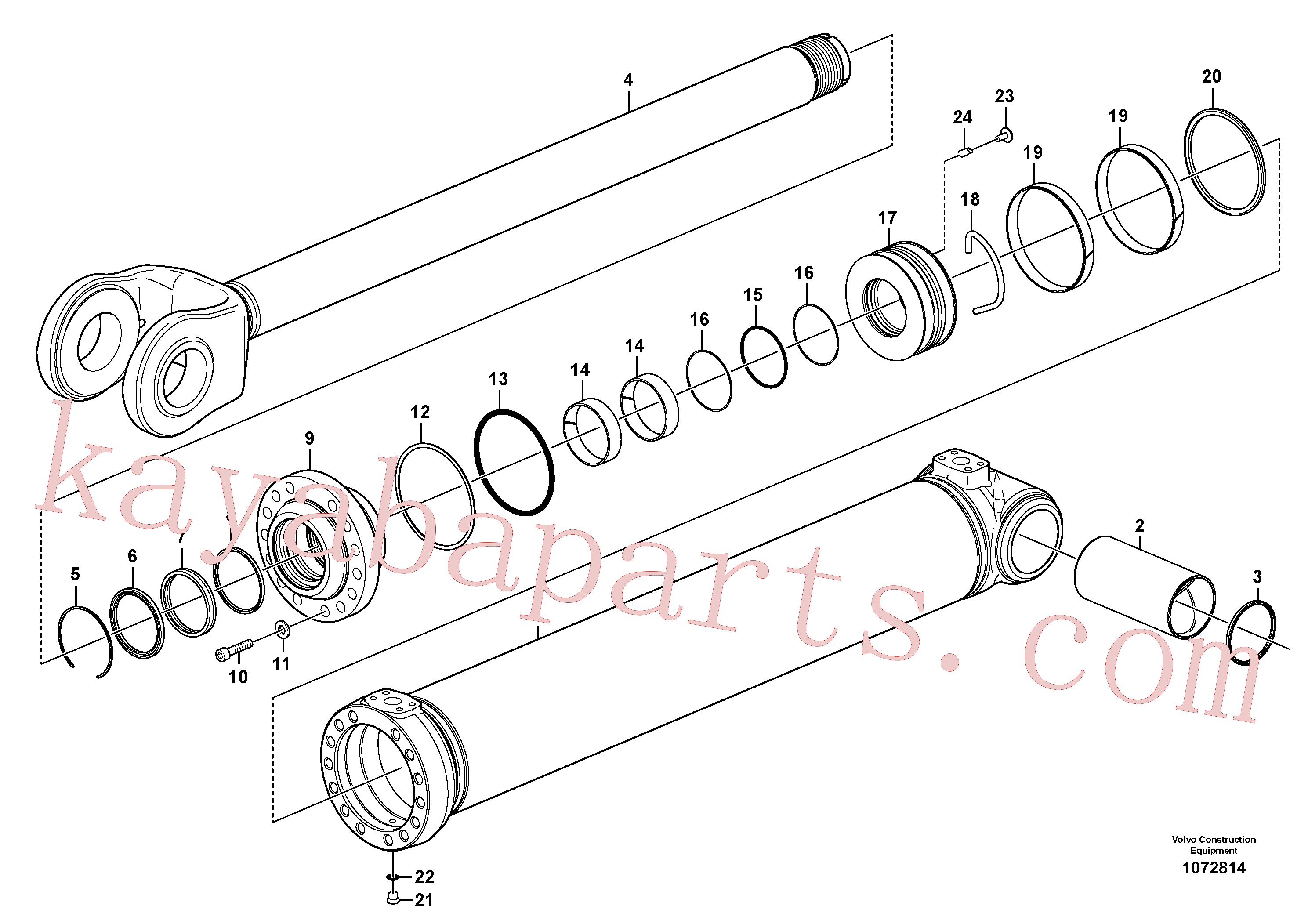 VOE11107376 for Volvo Hydraulic cylinder, lifting(1072814 assembly)