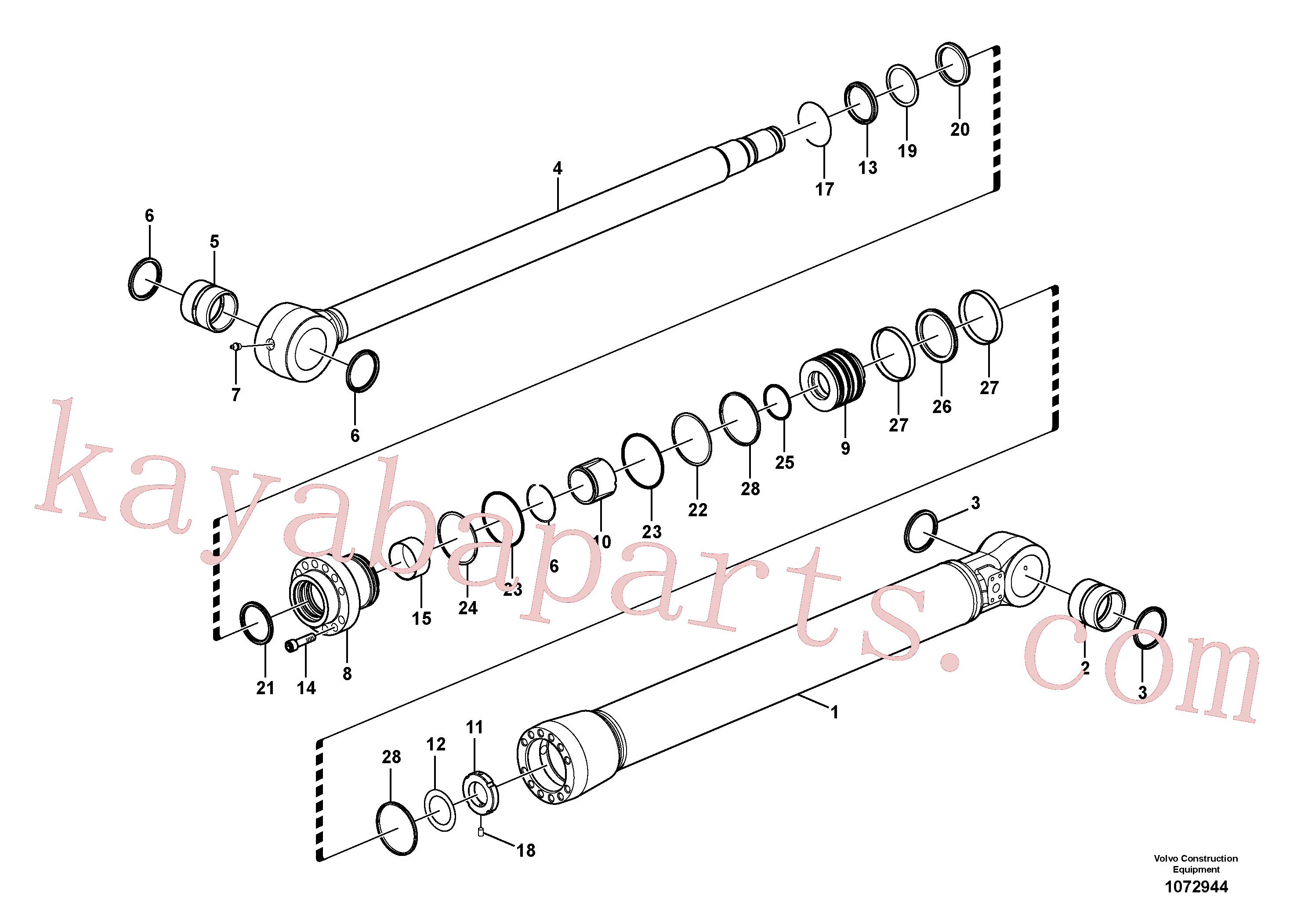 SA9557-08000 for Volvo Bucket cylinder(1072944 assembly)