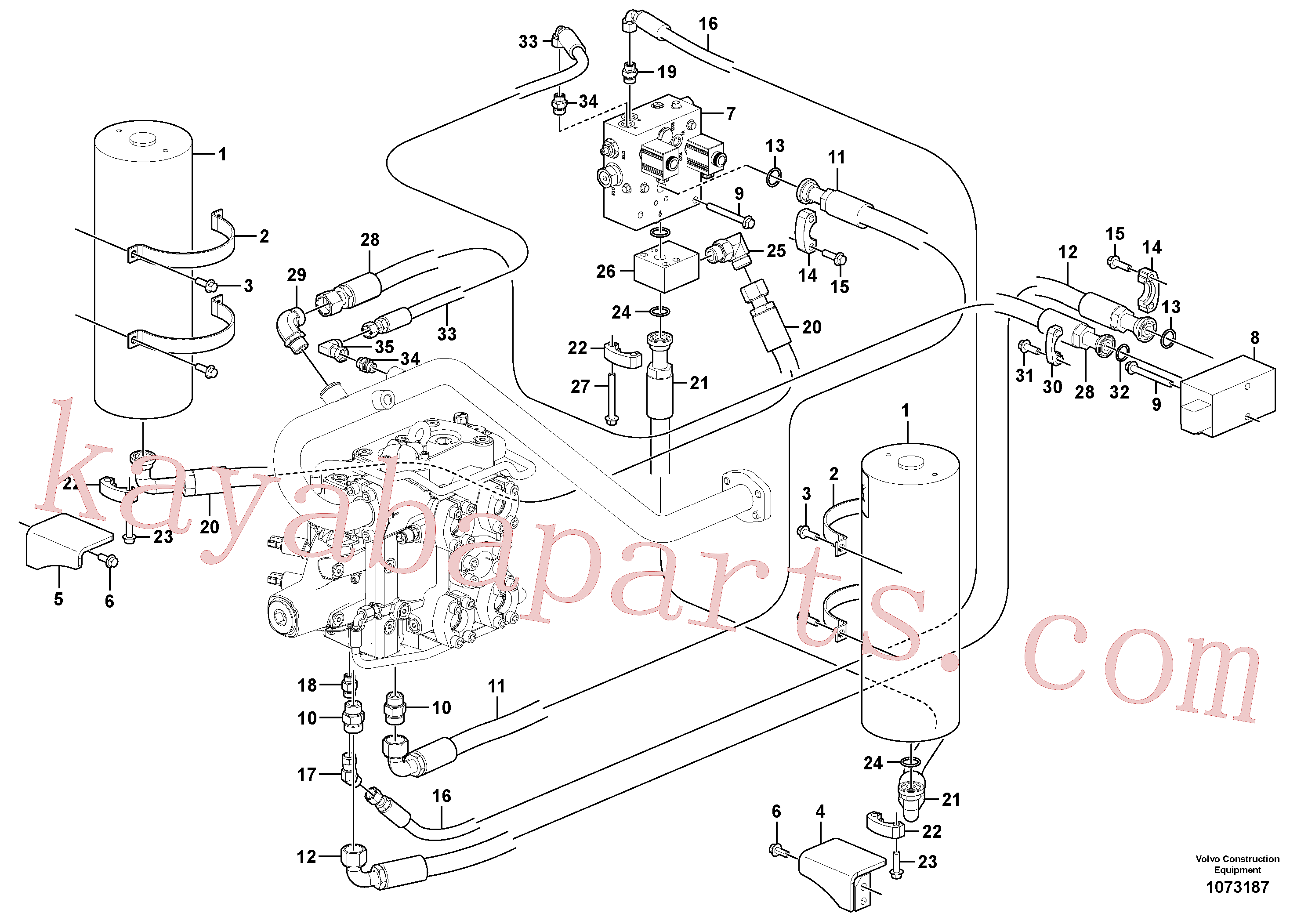 VOE14389880 for Volvo Boom suspension system(1073187 assembly)