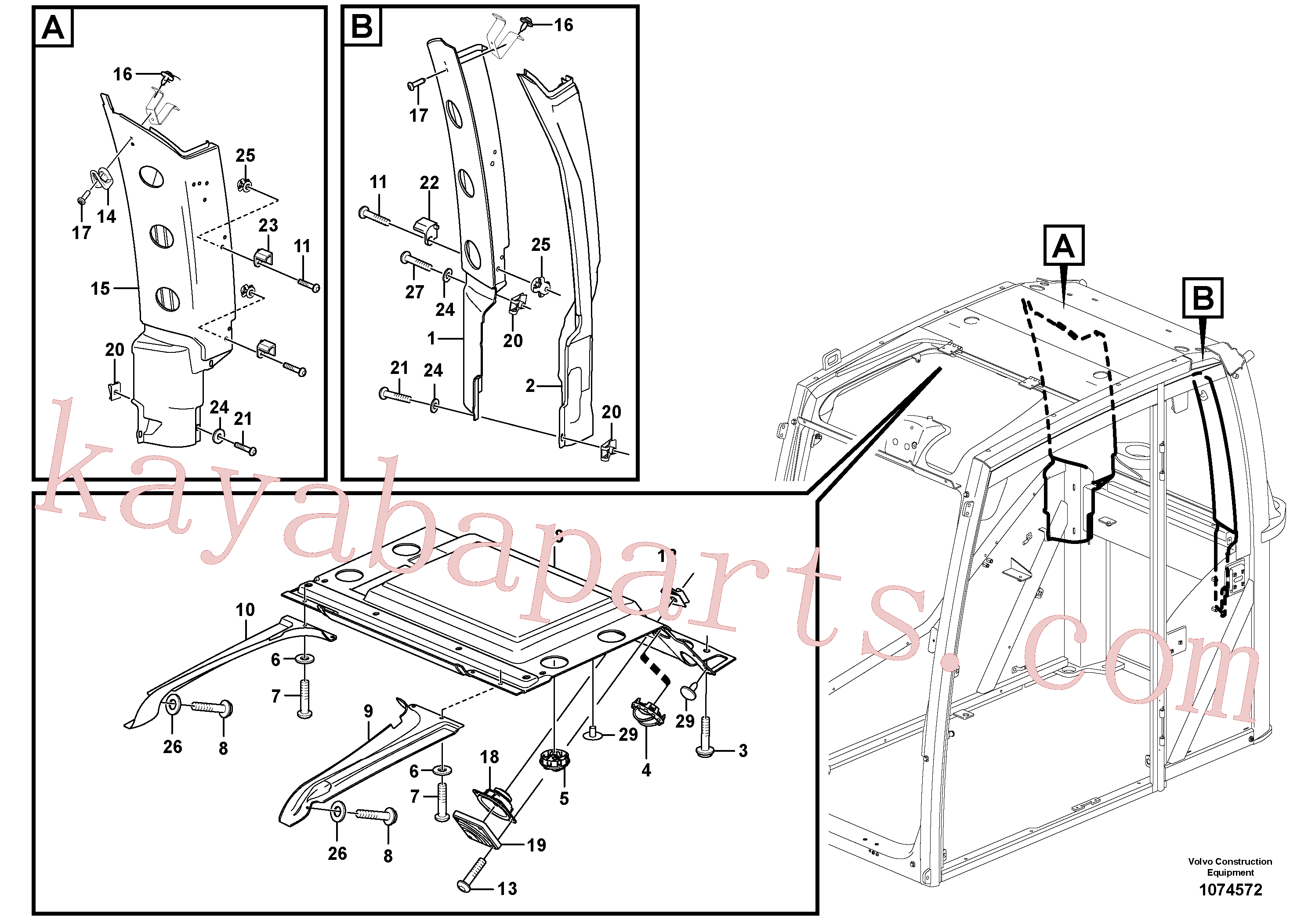 VOE14572485 for Volvo Interior components(1074572 assembly)