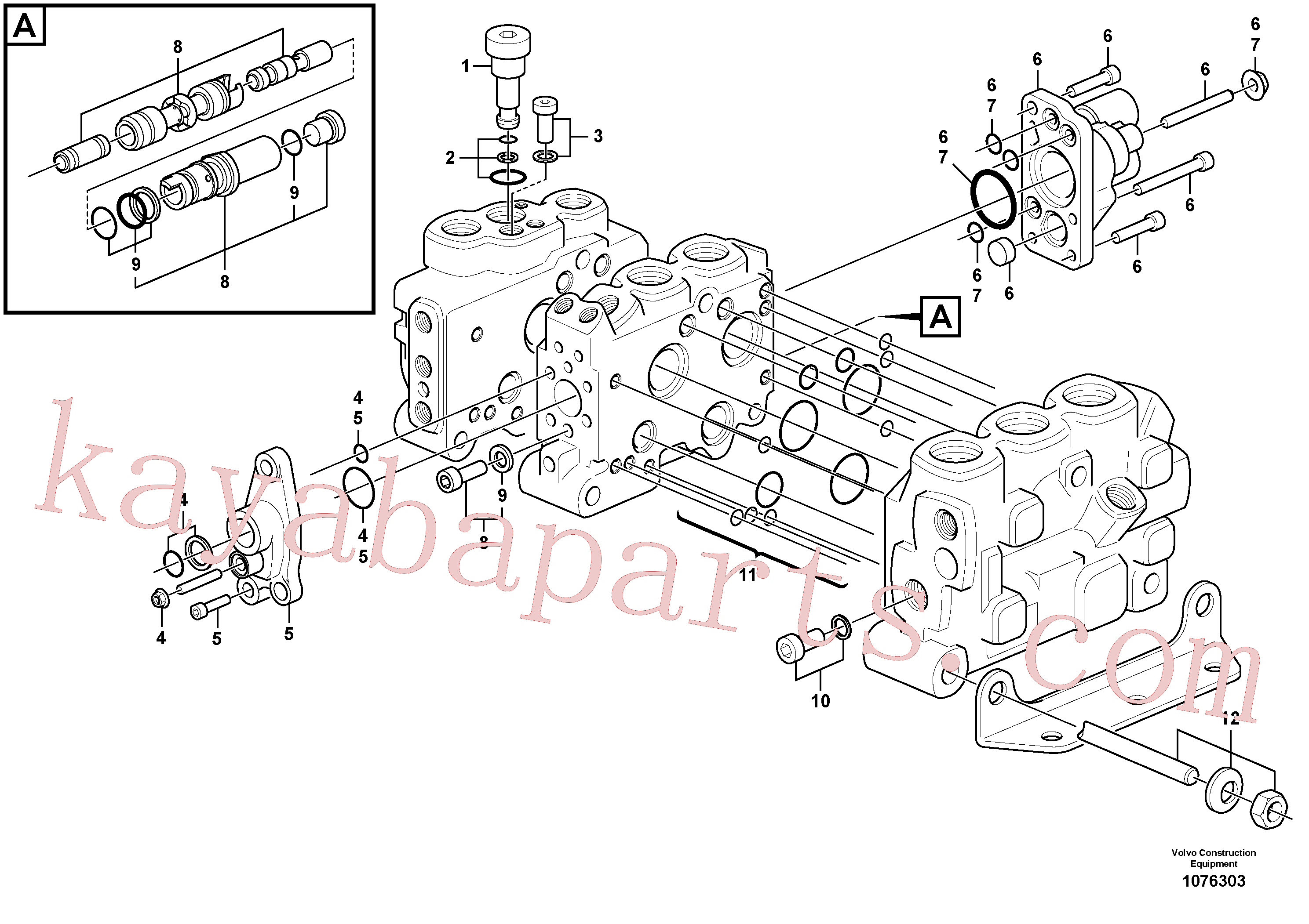 VOE15183468 for Volvo Control valve(1076303 assembly)