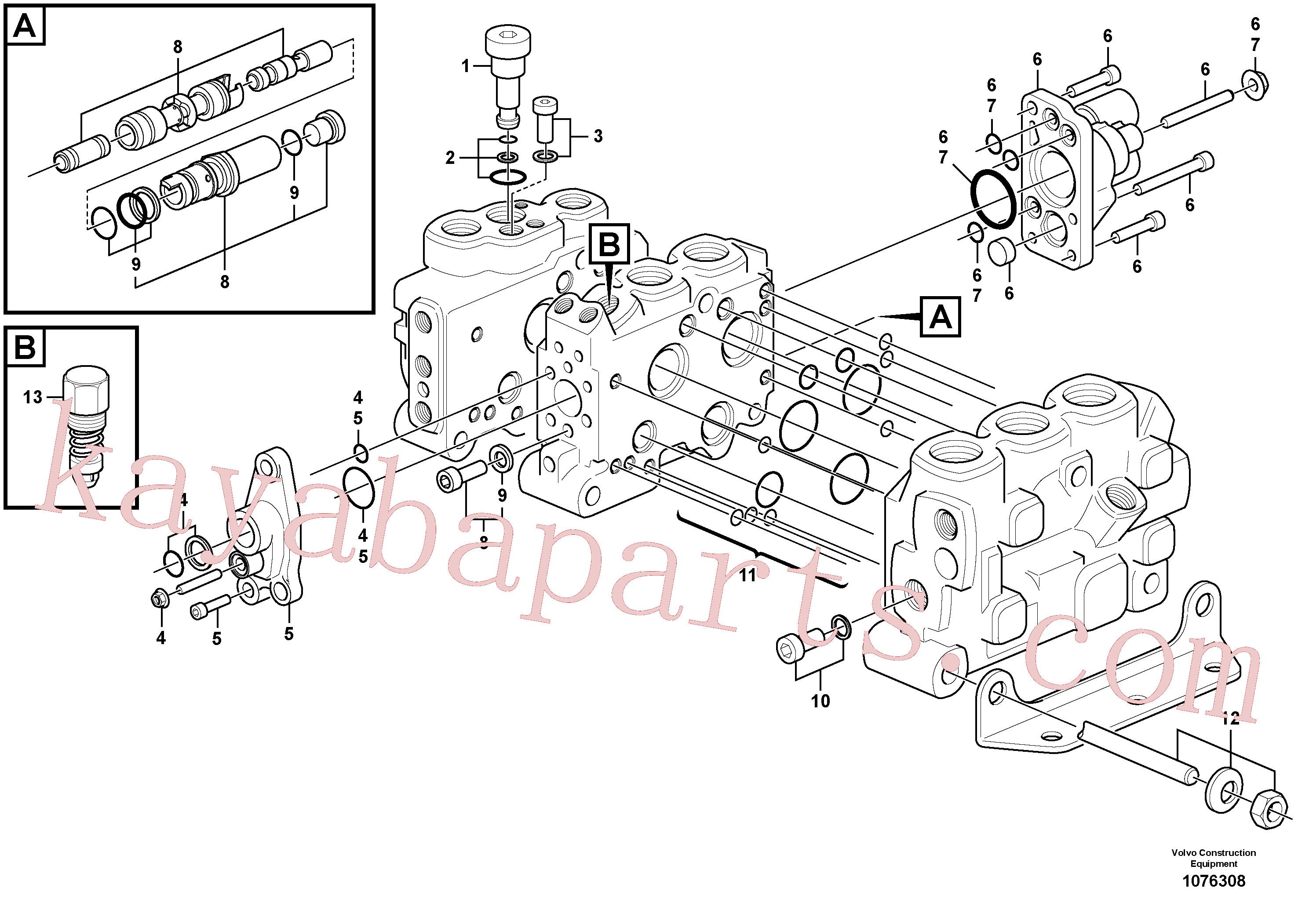 VOE15183468 for Volvo Control valve(1076308 assembly)