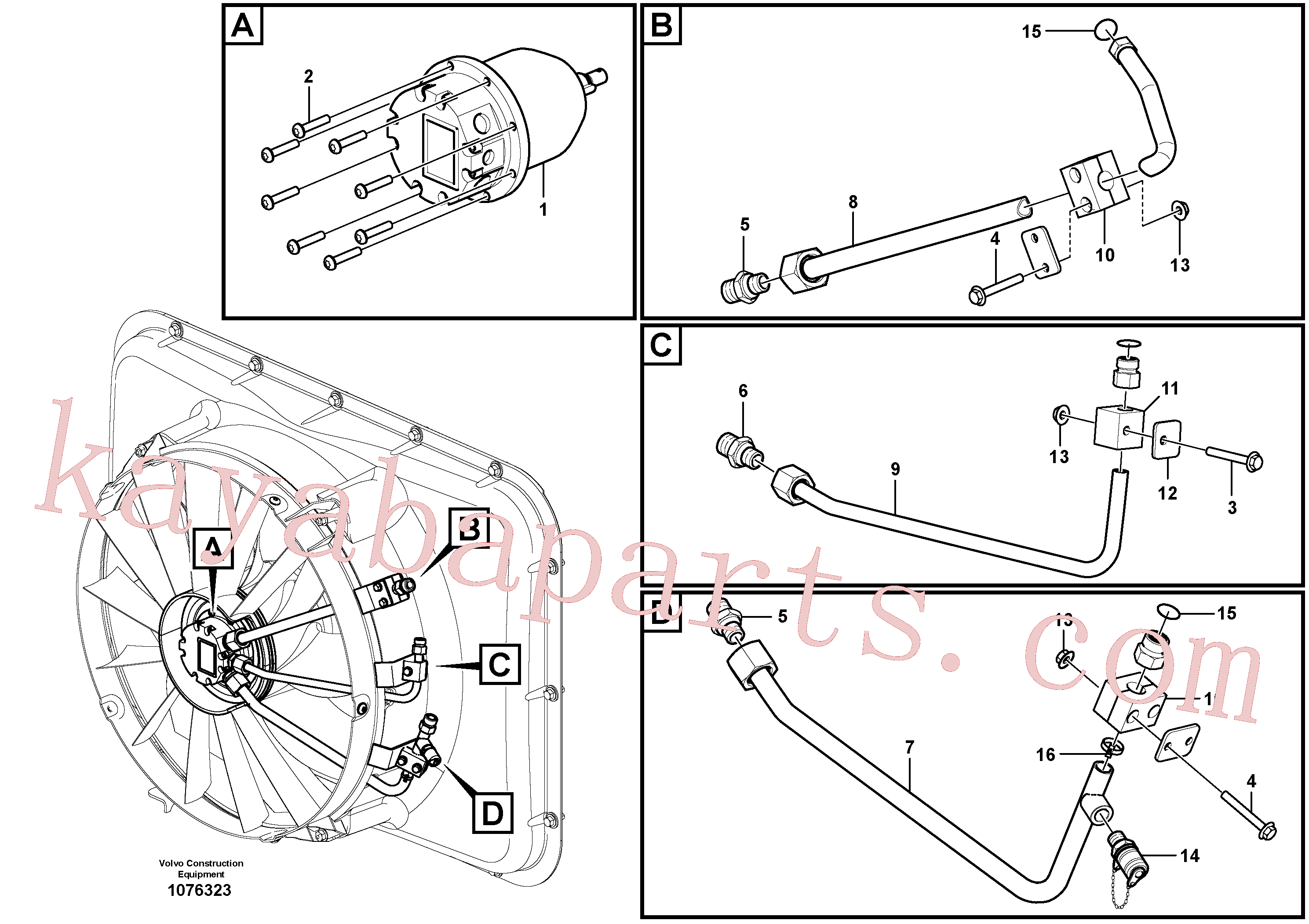 VOE11116120 for Volvo Fan drive(1076323 assembly)