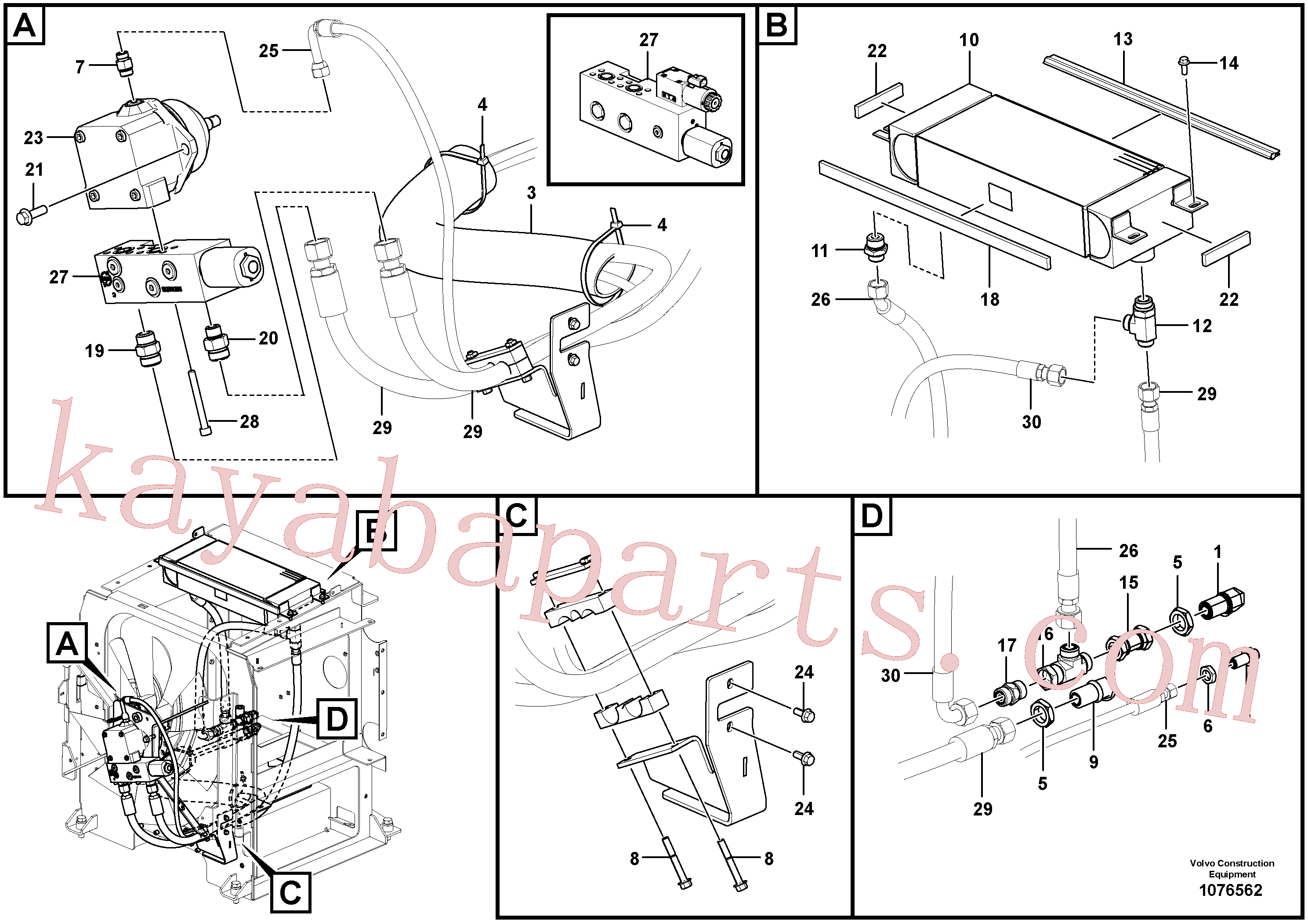 VOE935098 for Volvo Fan circuit - rear(1076562 assembly)
