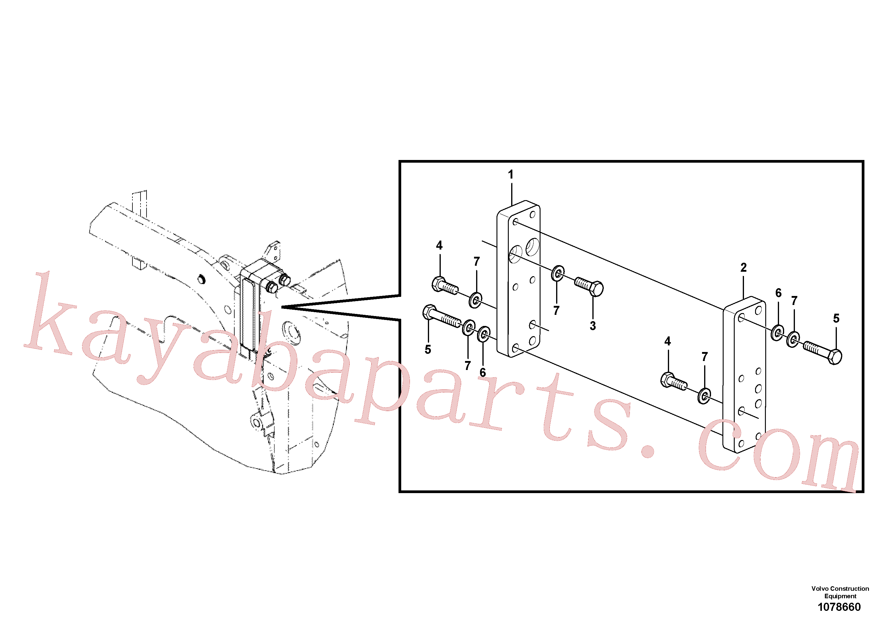 RM96721758 for Volvo Spacer installation(1078660 assembly)