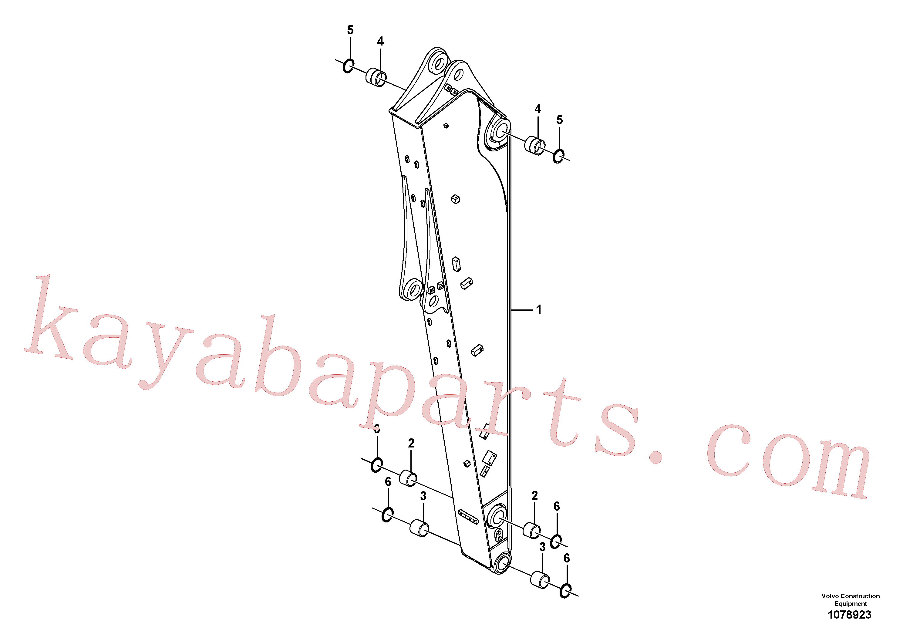 VOE14560201 for Volvo Dipper arm(1078923 assembly)