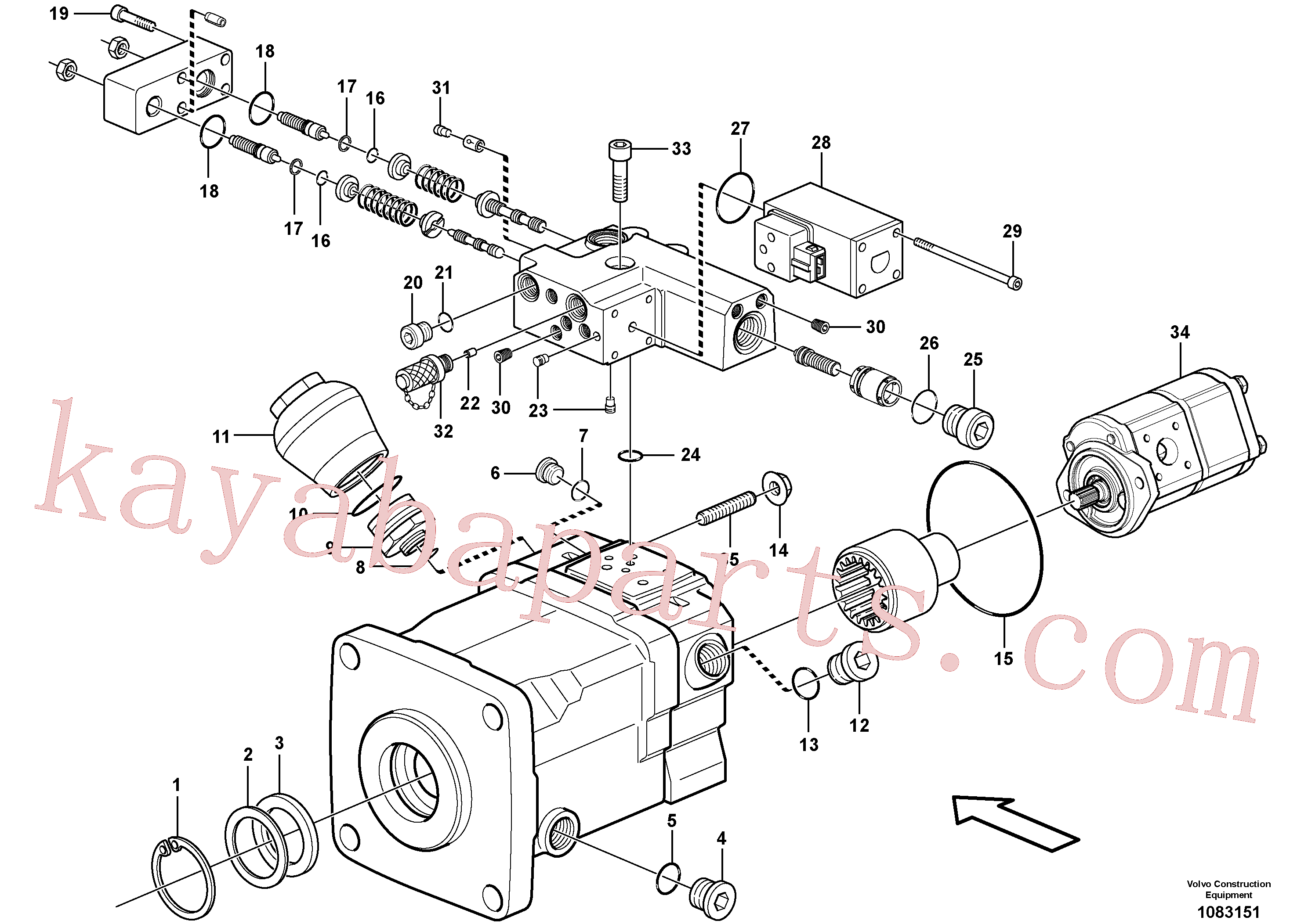 VOE11704910 for Volvo Pump(1083151 assembly)