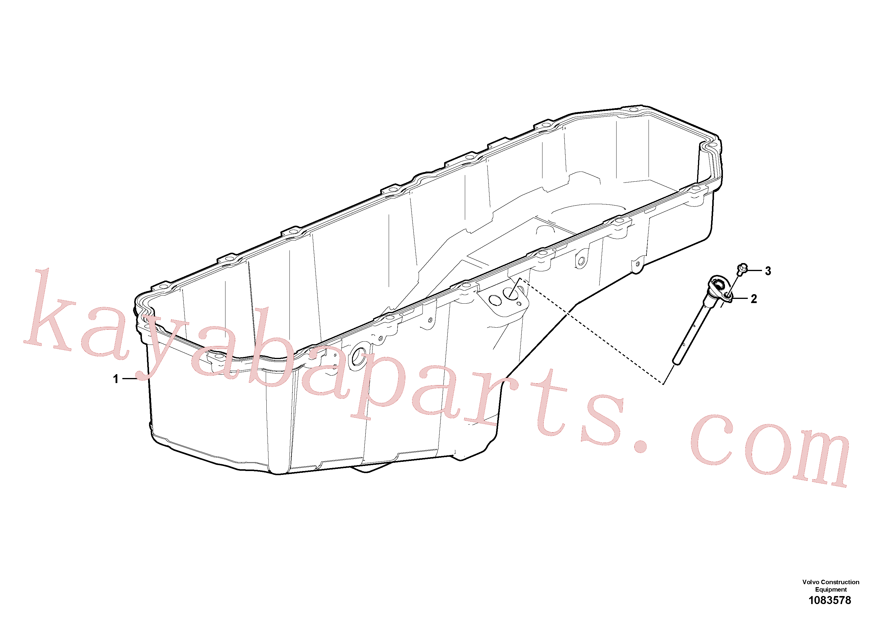 VOE984734 for Volvo Oil sump(1083578 assembly)