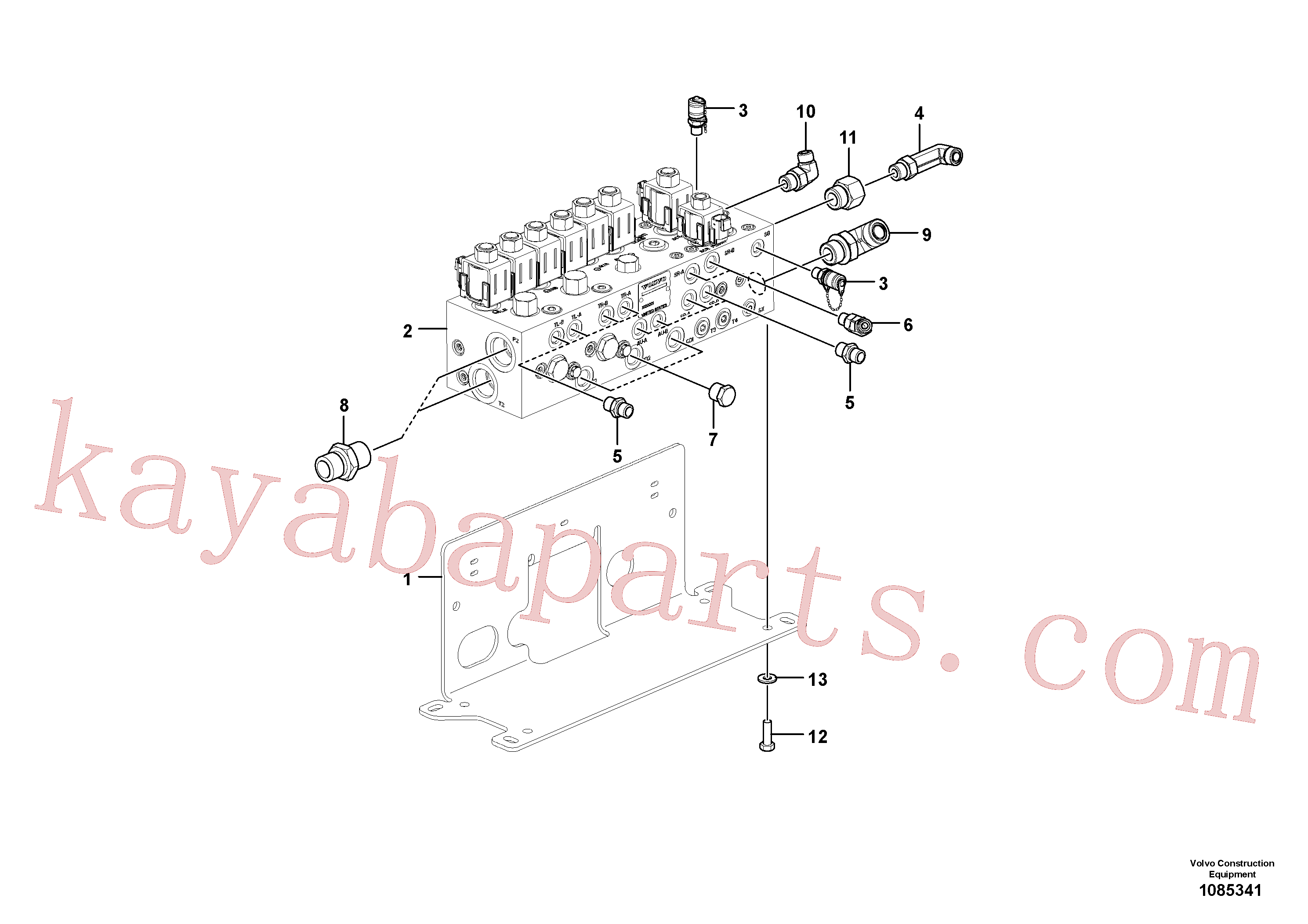 VOE935098 for Volvo Valve(1085341 assembly)