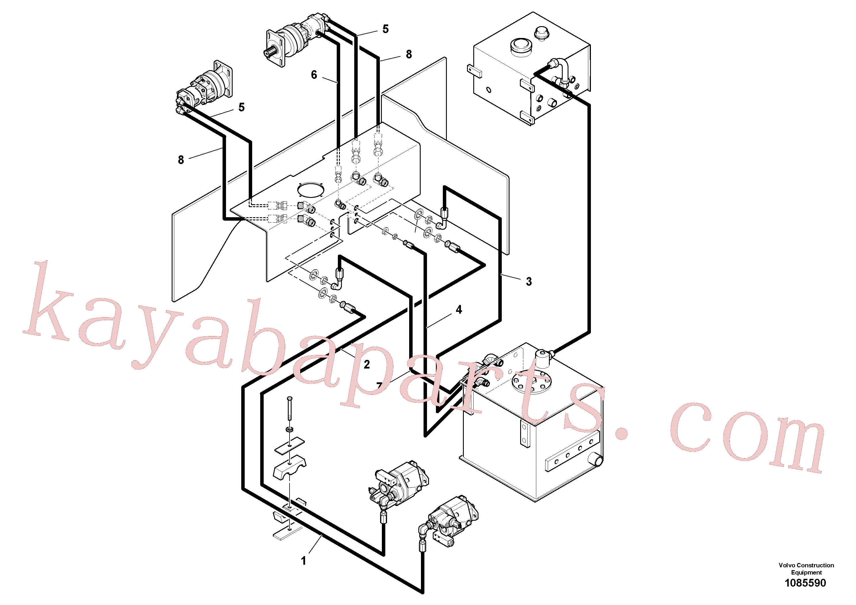 VOE12815720 for Volvo Auger/conveyor Drive Hydraulic System(1085590 assembly)