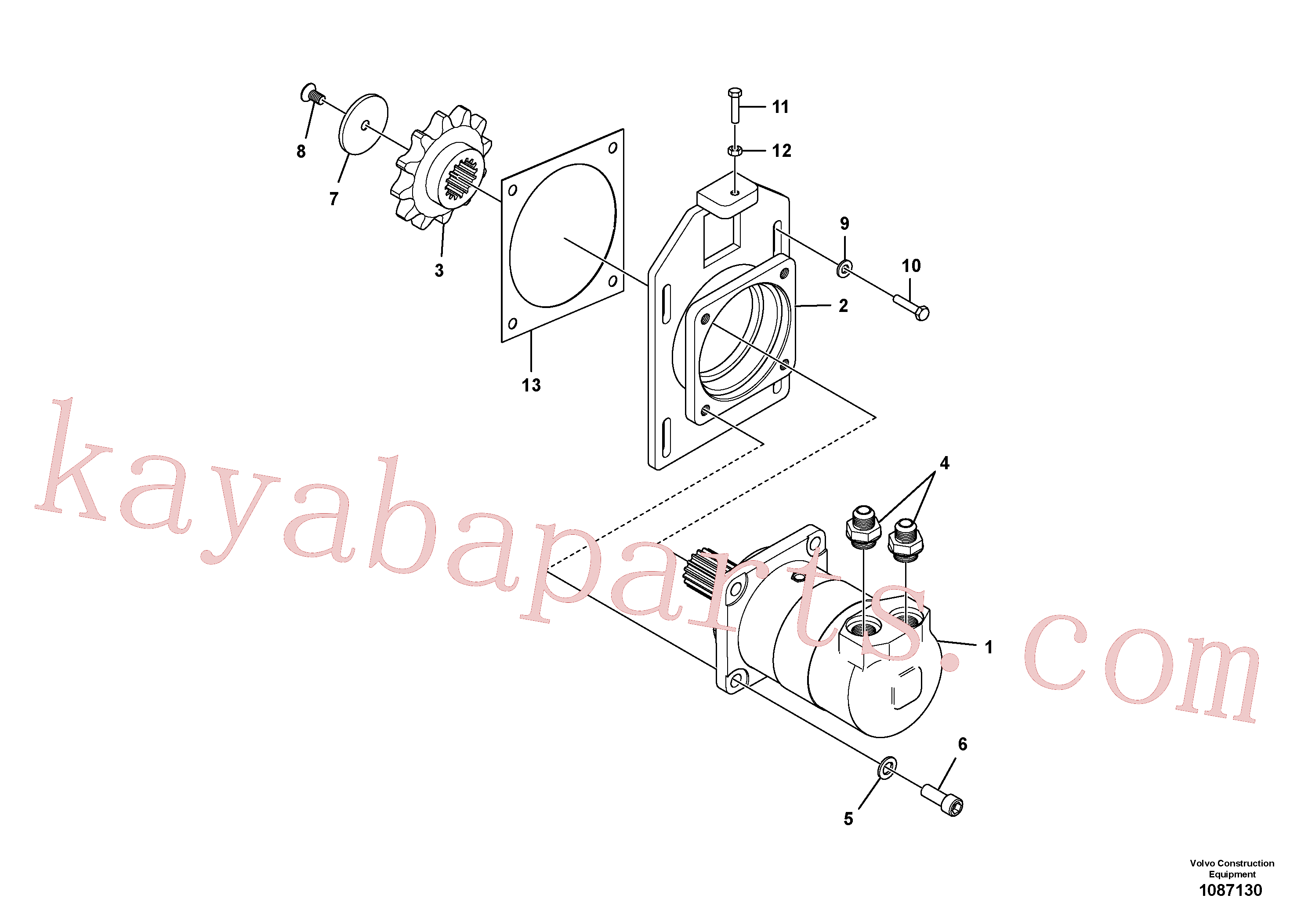 RM43909233 for Volvo High Torque Auger Motor Installation(1087130 assembly)