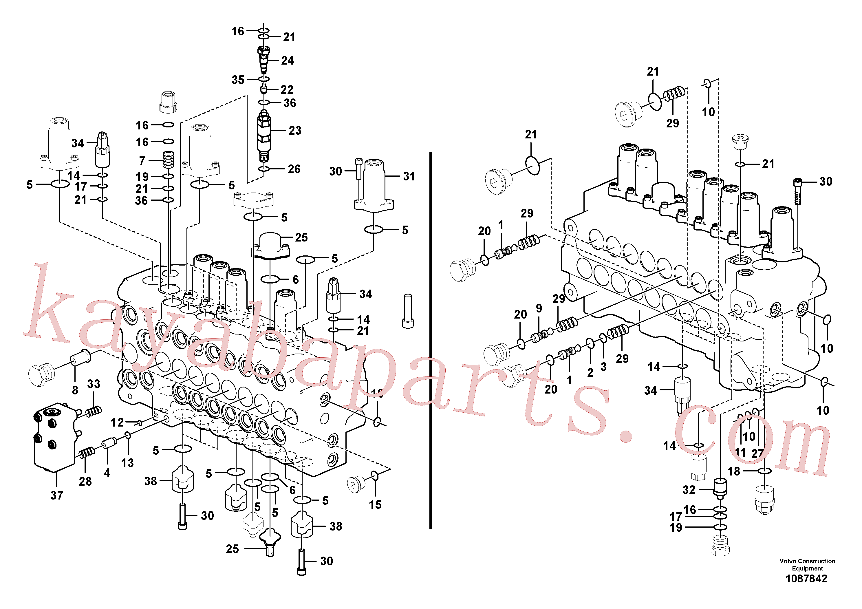 VOE14552480 for Volvo Main control valve(1087842 assembly)