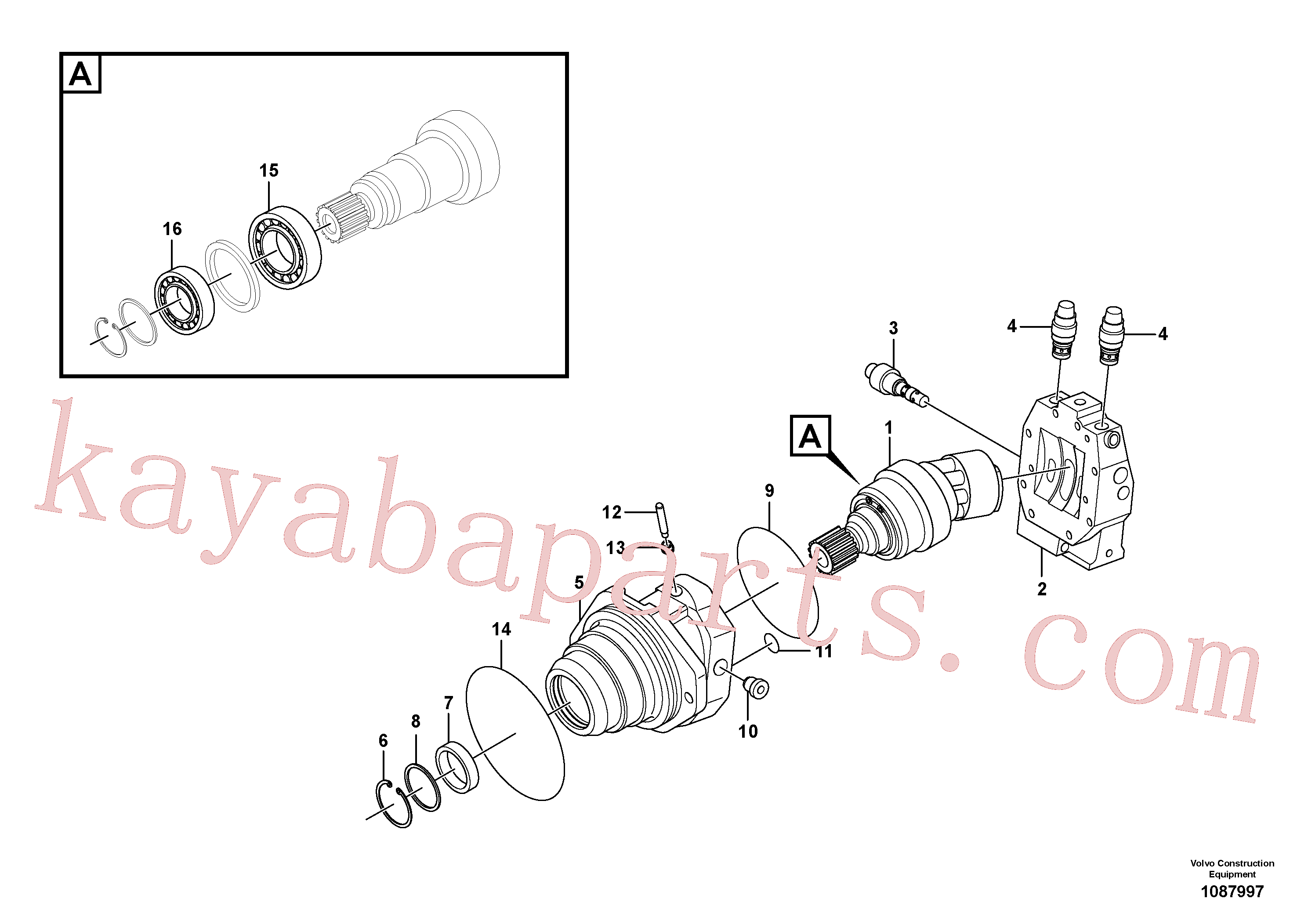 SA8230-34740 for Volvo Travel motor(1087997 assembly)
