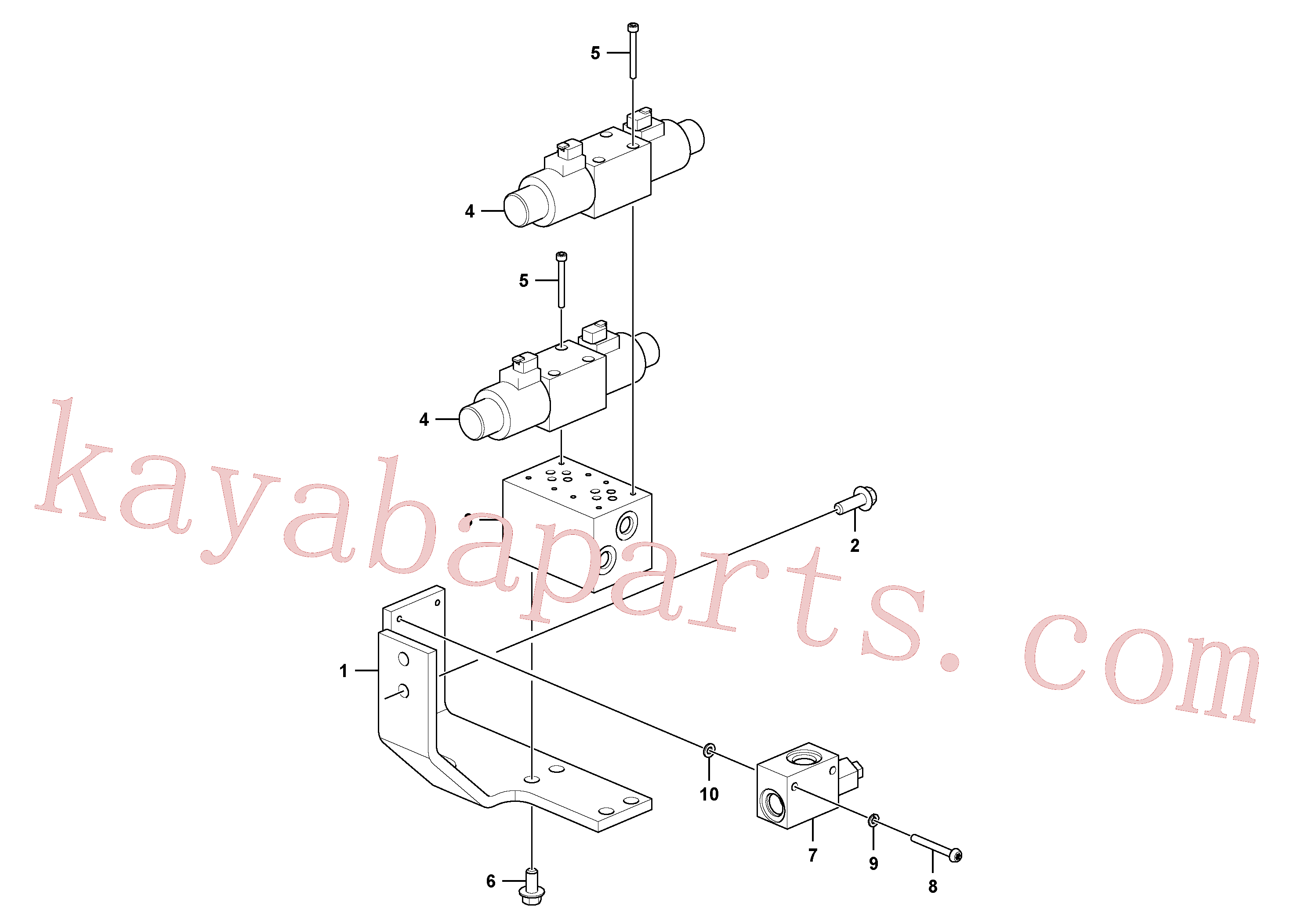 VOE14593521 for Volvo Servo system, control valve to solenoid valve(1088466 assembly)