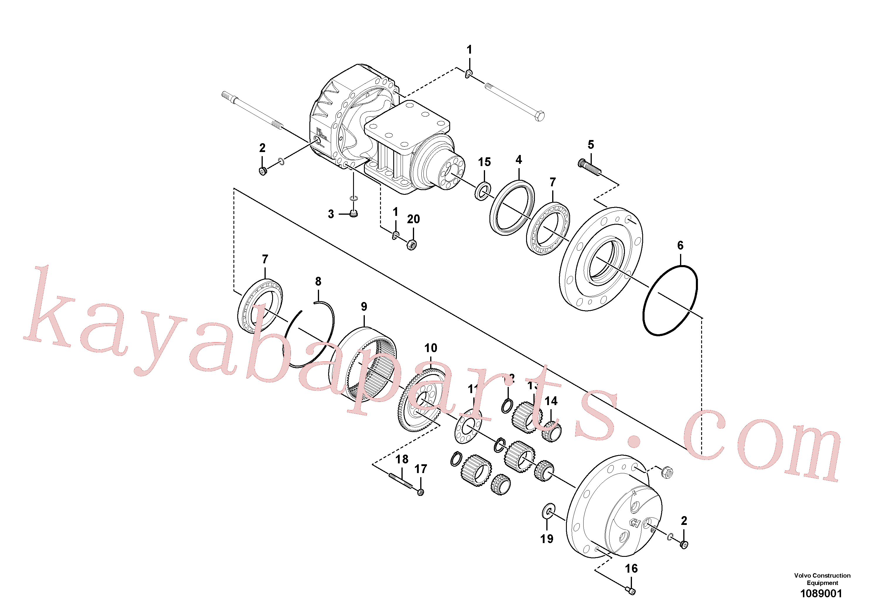 RM59146662 for Volvo Rear axle, Hub reduction(1089001 assembly)