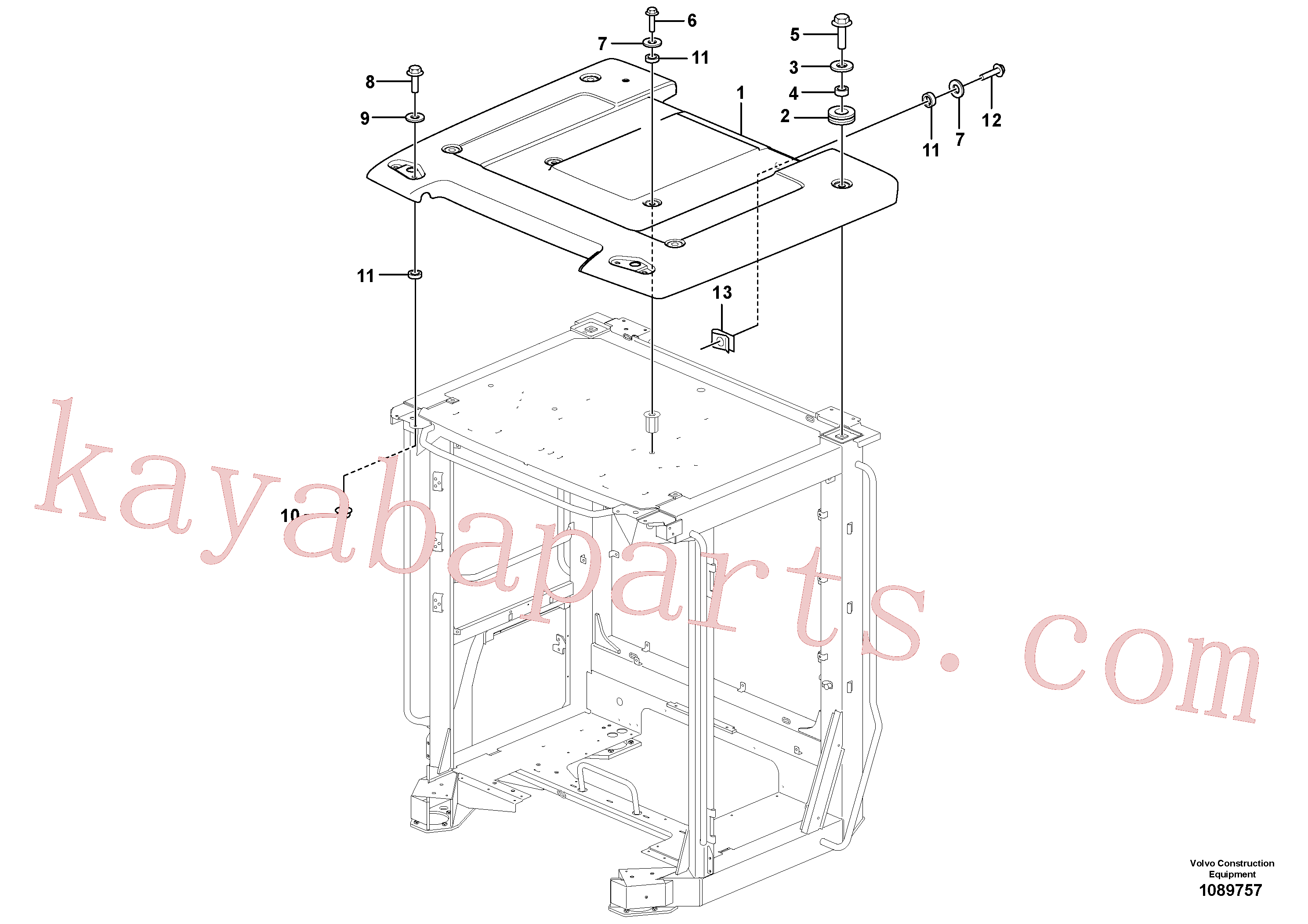 VOE60113080 for Volvo Roof(1089757 assembly)