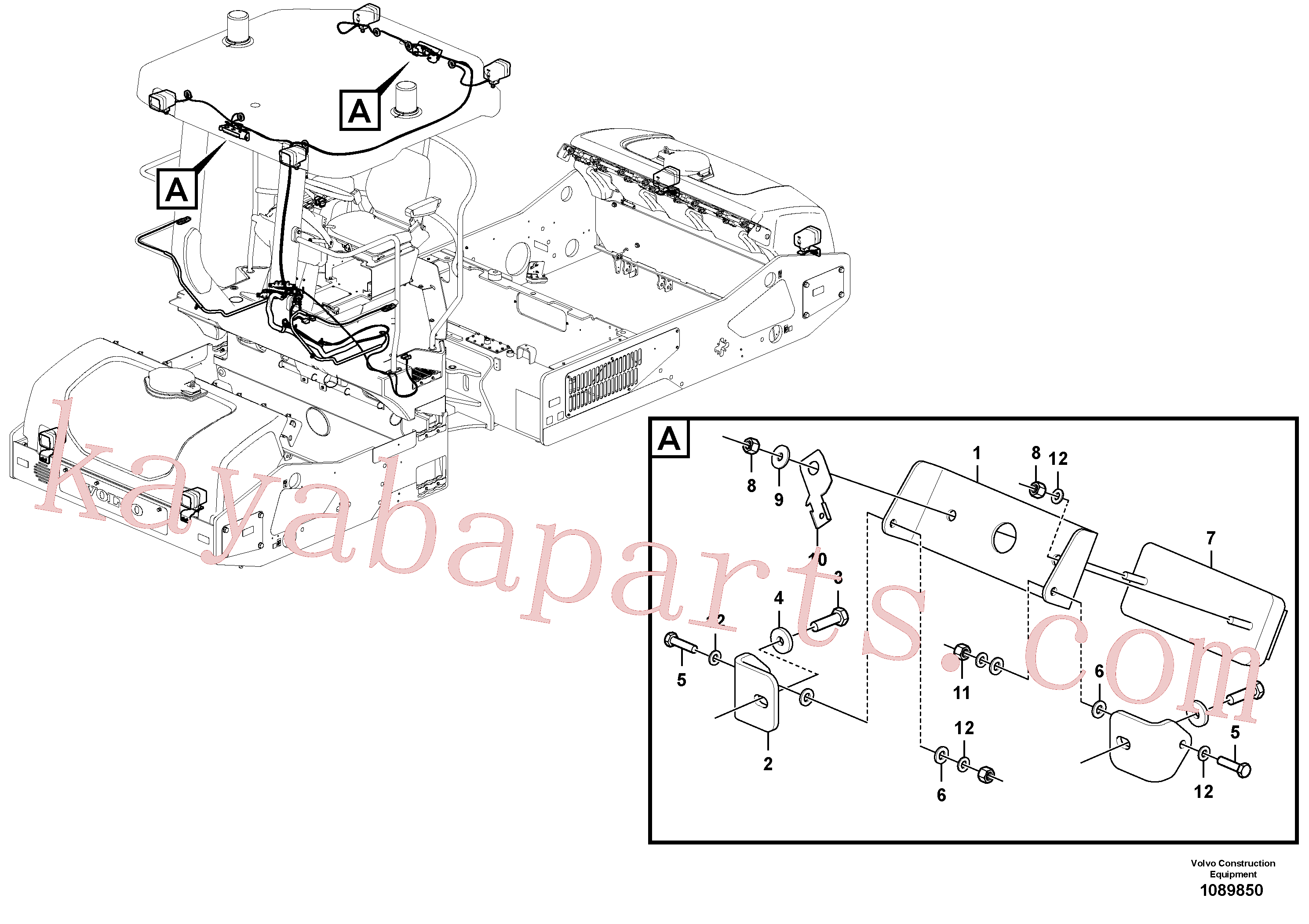 VOE983380 for Volvo Drum Surface Light Assembly(1089850 assembly)