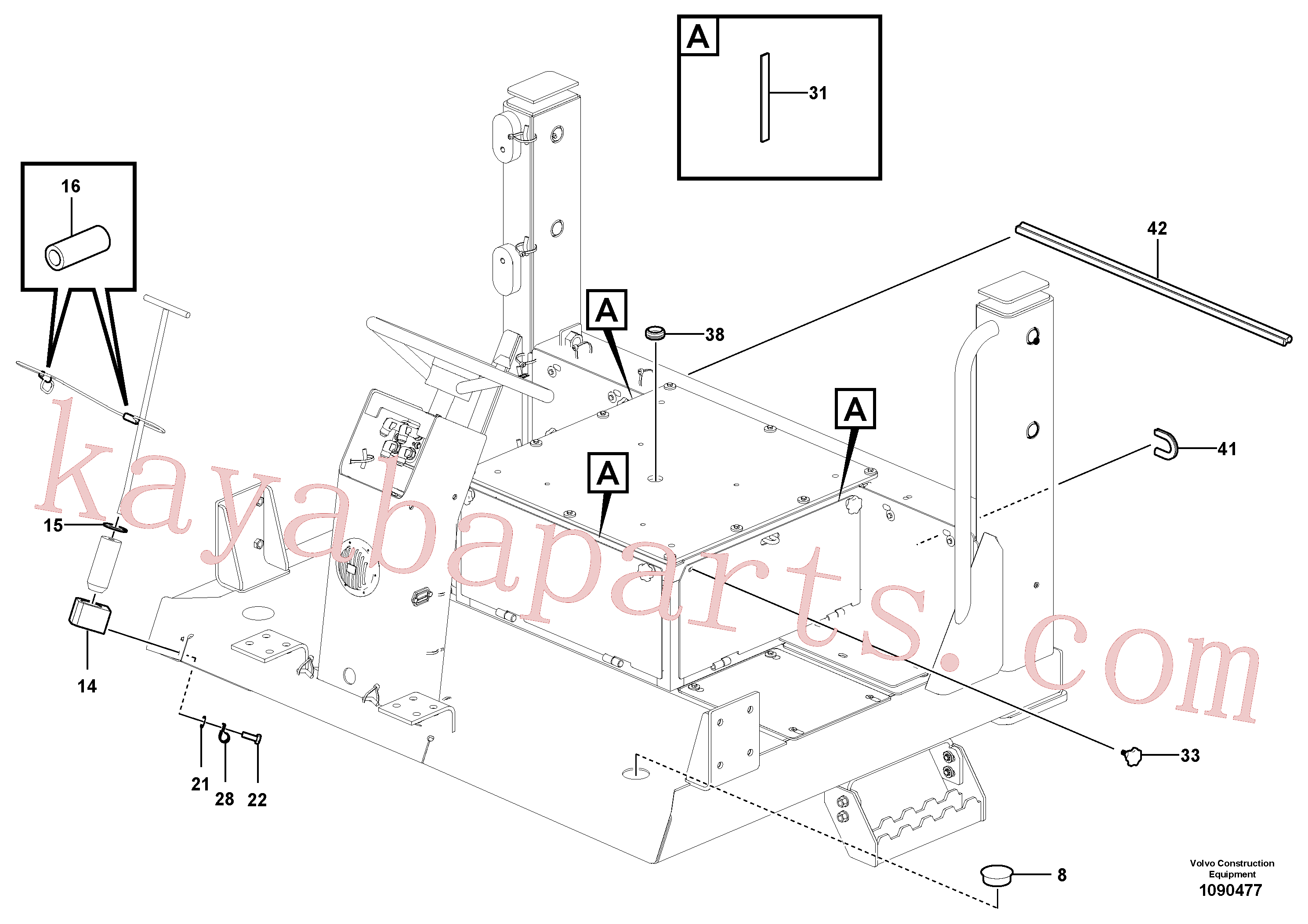 RM70829825 for Volvo Operator's Platform(1090477 assembly)