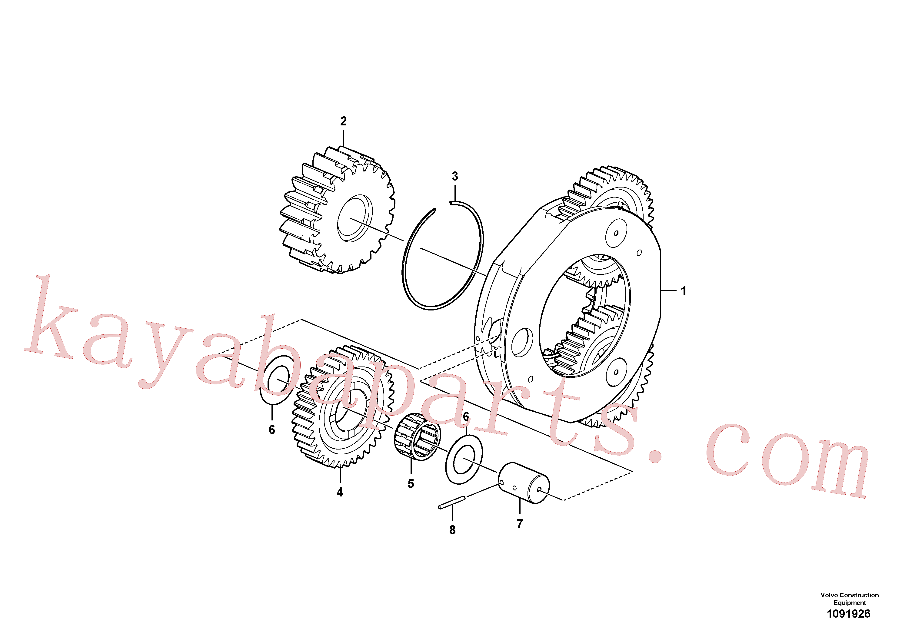 VOE14620669 for Volvo Planet Carrier(1091926 assembly)