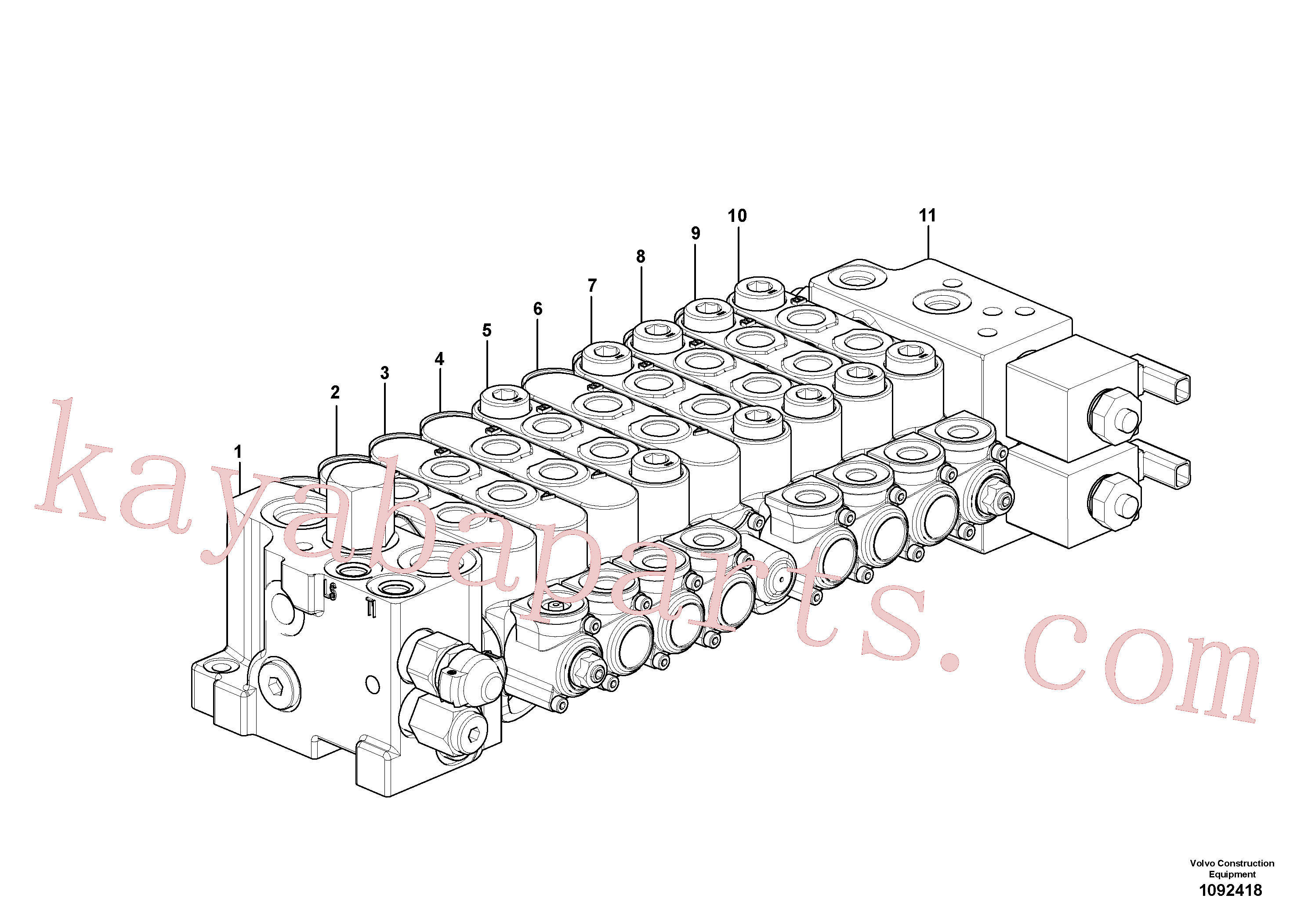 VOE17244629 for Volvo Control valve(1092418 assembly)