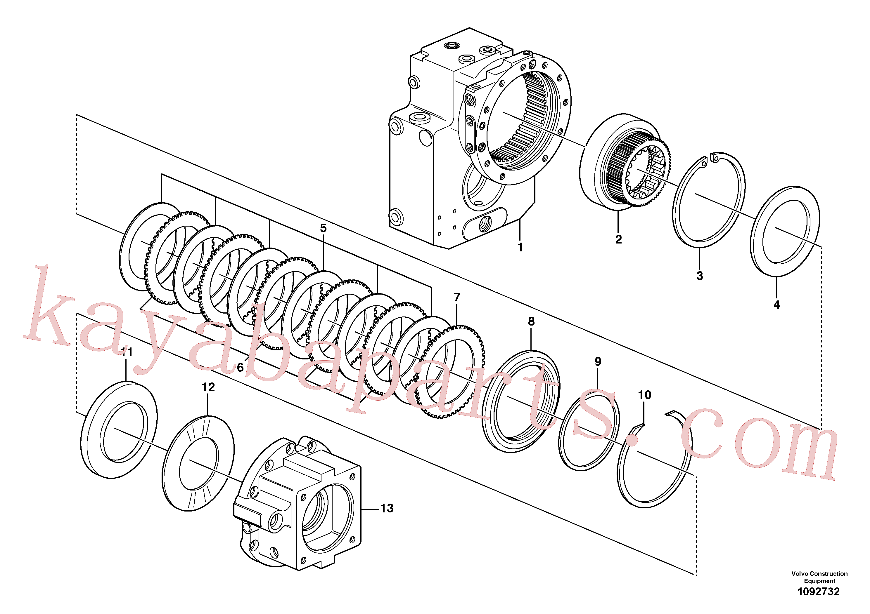 VOE11705185 for Volvo Dropbox, Brake plates(1092732 assembly)