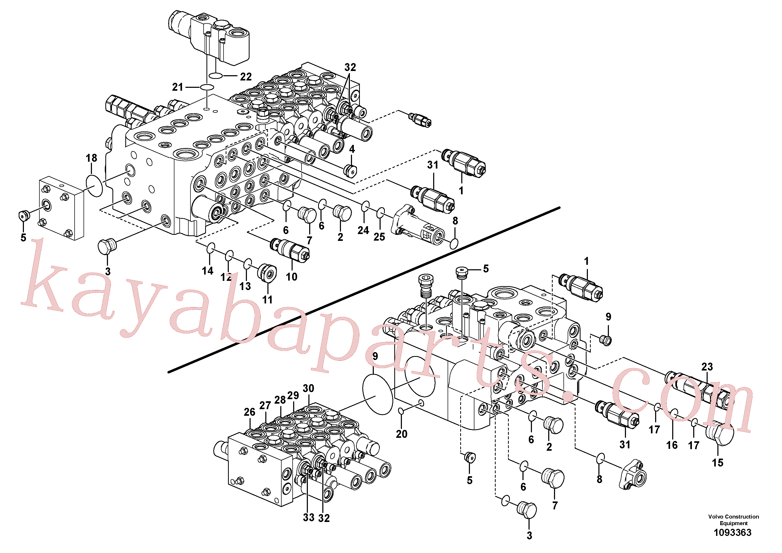 VOE14667612 for Volvo Main control valve(1093363 assembly)