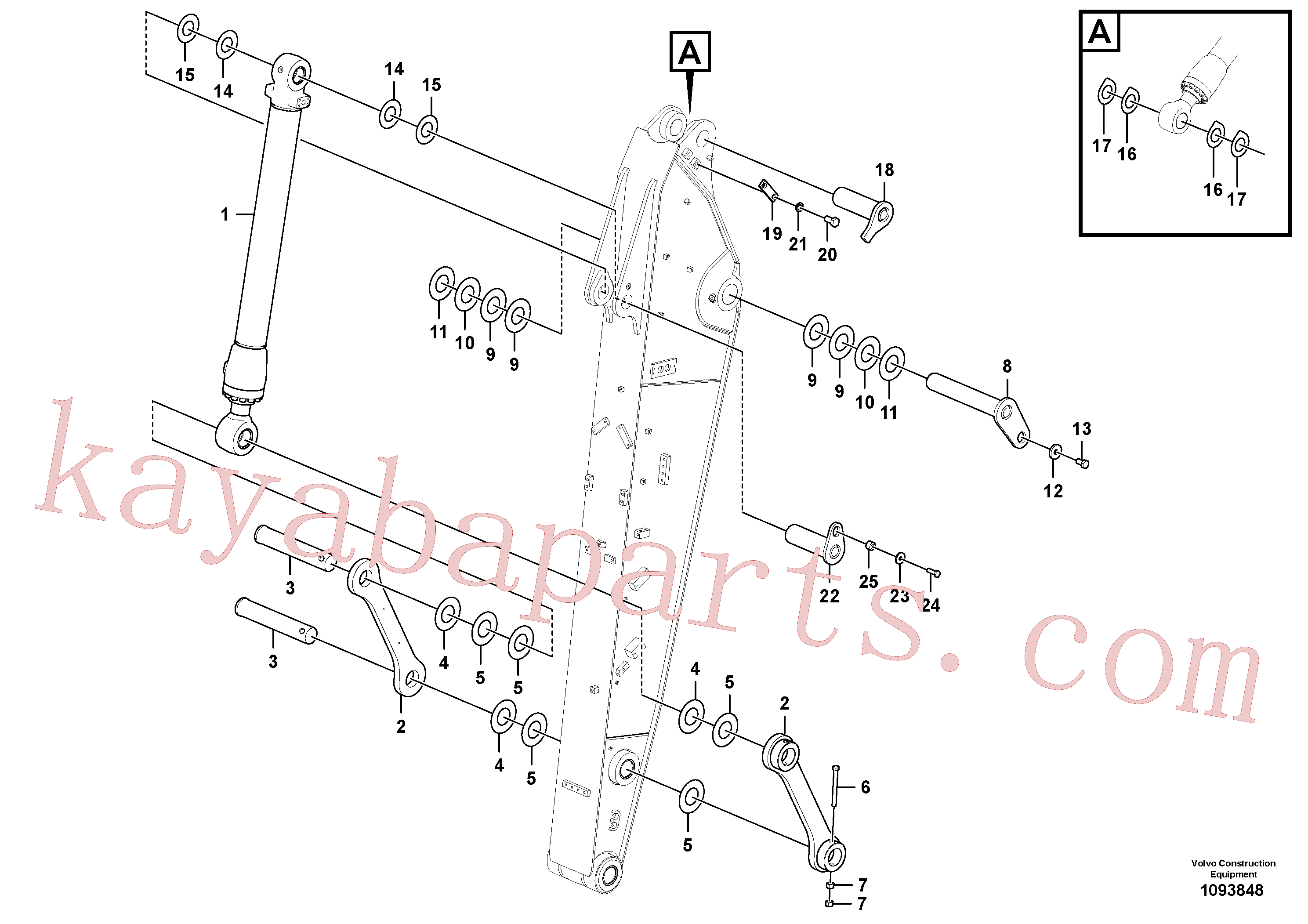 VOE11305012 for Volvo Links to dipper arm(1093848 assembly)